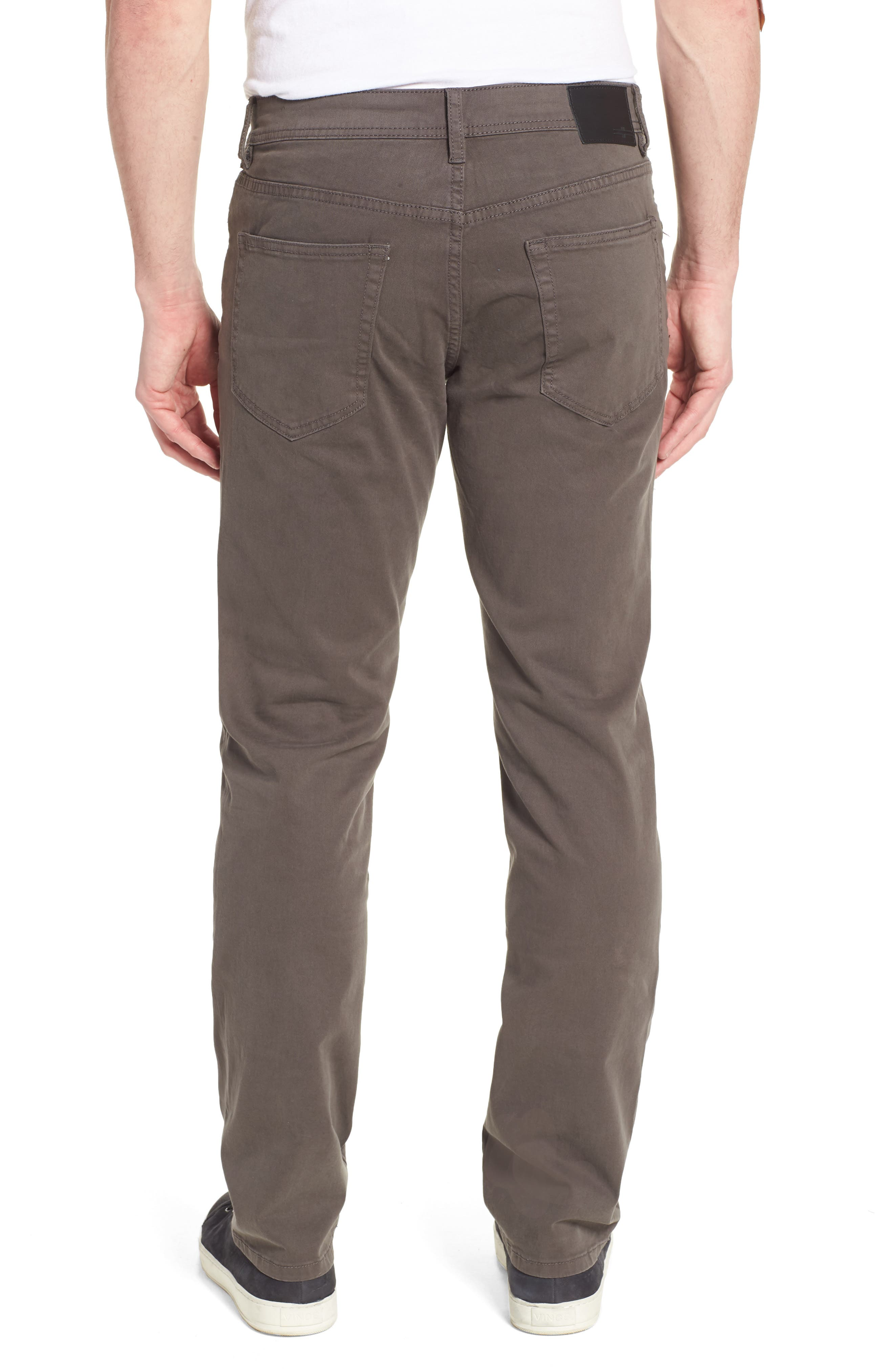 LIVERPOOL, Regent Relaxed Straight Leg Twill Pants, Alternate thumbnail 2, color, DEEP EARTH