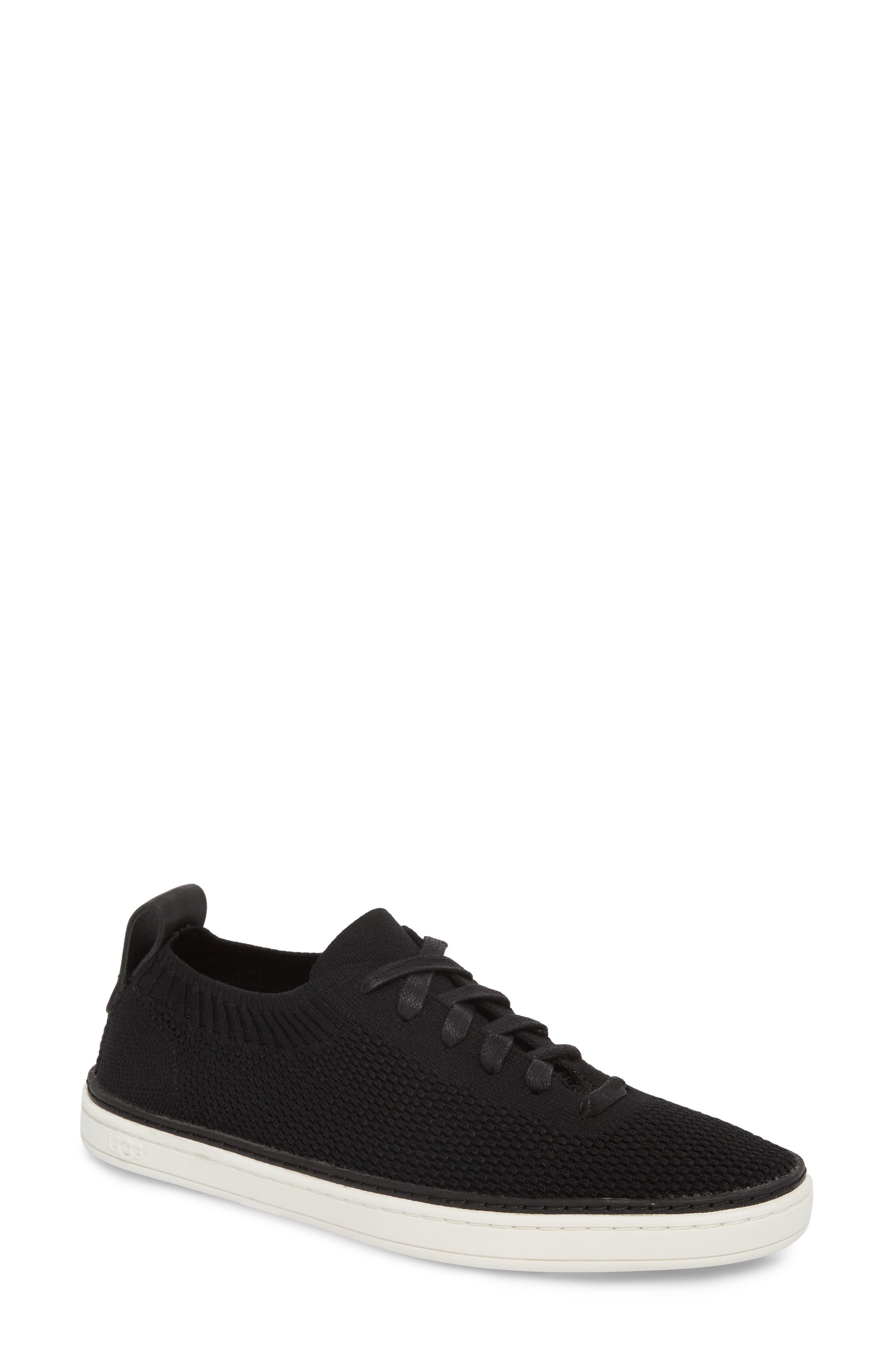 UGG<SUP>®</SUP>, Sidney Sneaker, Main thumbnail 1, color, BLACK FABRIC
