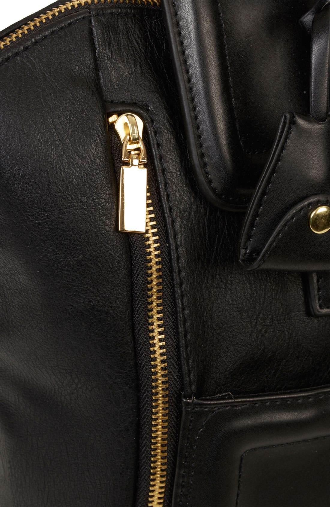 TOPSHOP, Winged Tote, Alternate thumbnail 3, color, 001
