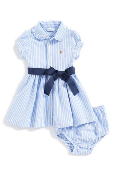 48fb57167 Ralph Lauren Oxford Polo Dress & Bloomers (Baby Girls) | Nordstrom