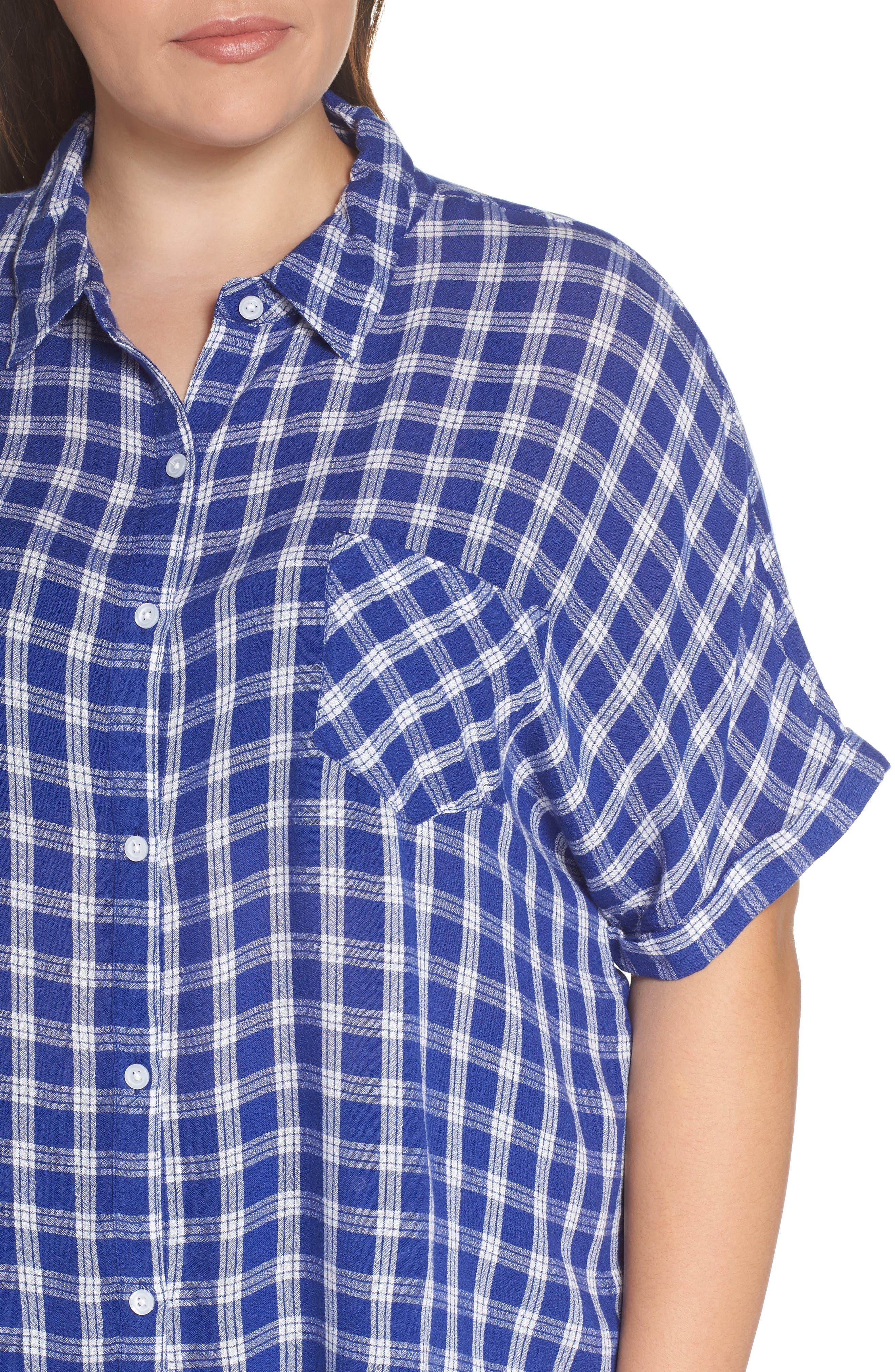 BP., Plaid Dolman Sleeve Shirt, Alternate thumbnail 10, color, 420