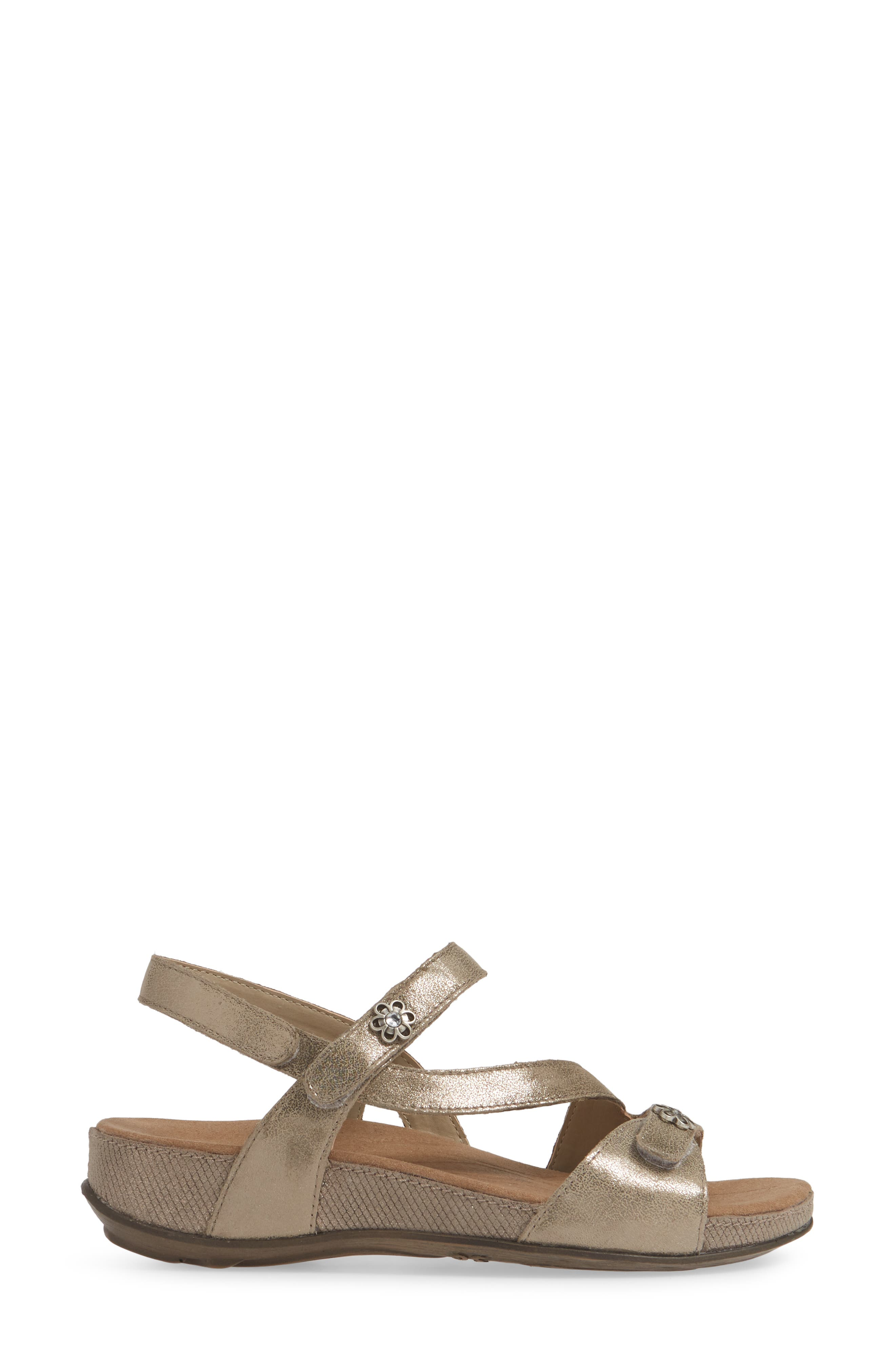ROMIKA<SUP>®</SUP>, Fidschi 54 Sandal, Alternate thumbnail 3, color, BRONZE LEATHER