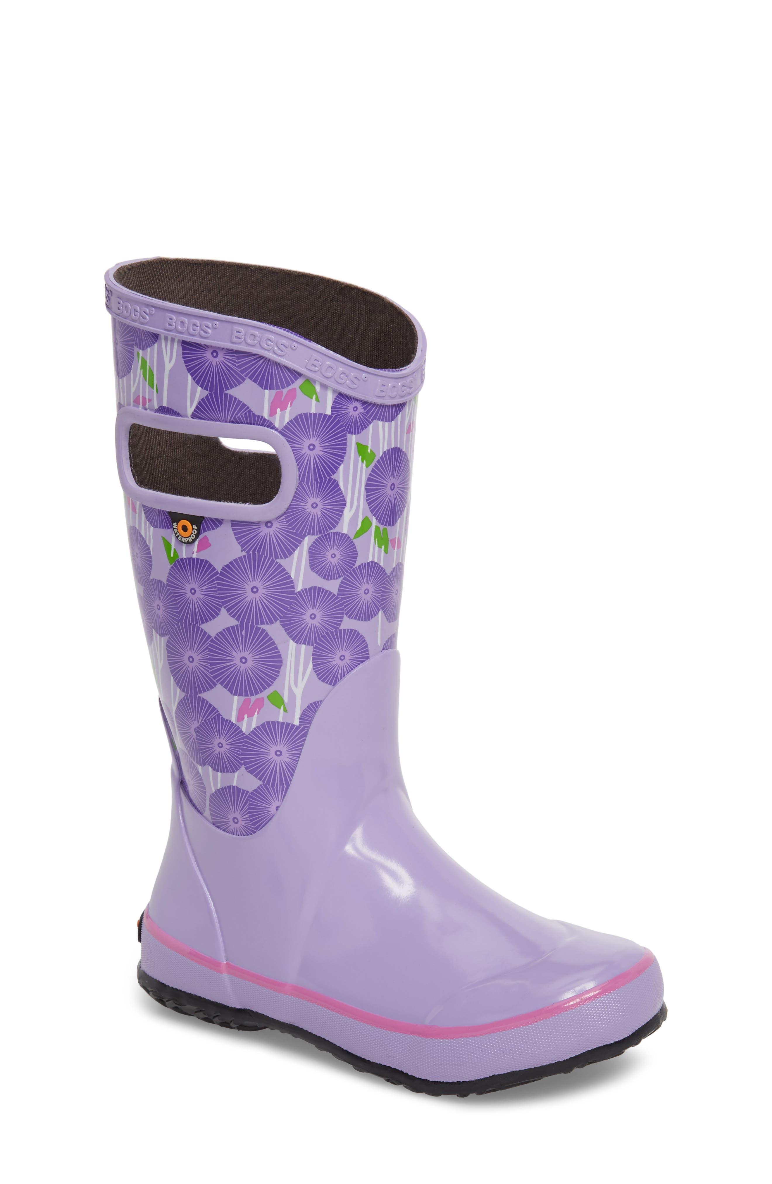 BOGS Skipper Aster Print Rubber Rain Boot, Main, color, LAVENDER MULTI