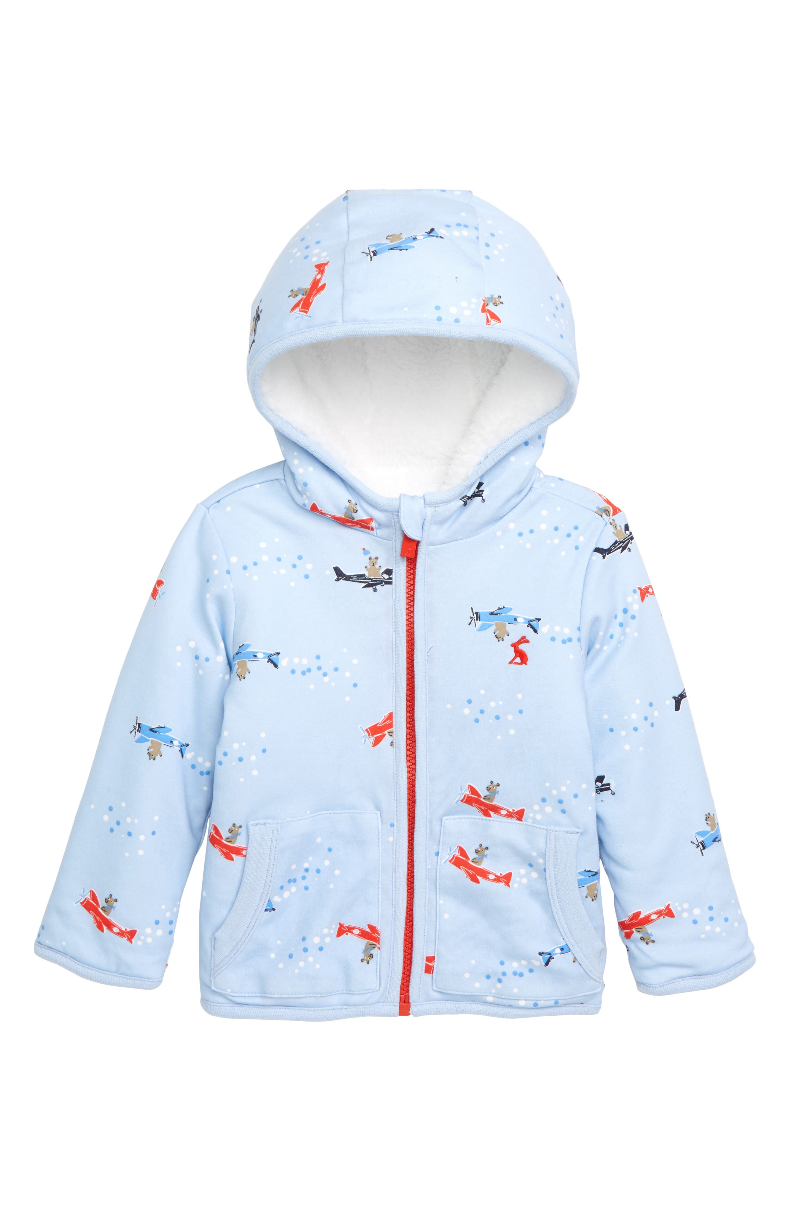 JOULES, James Reversible Fleece Jacket, Main thumbnail 1, color, BLPLNEBEAR