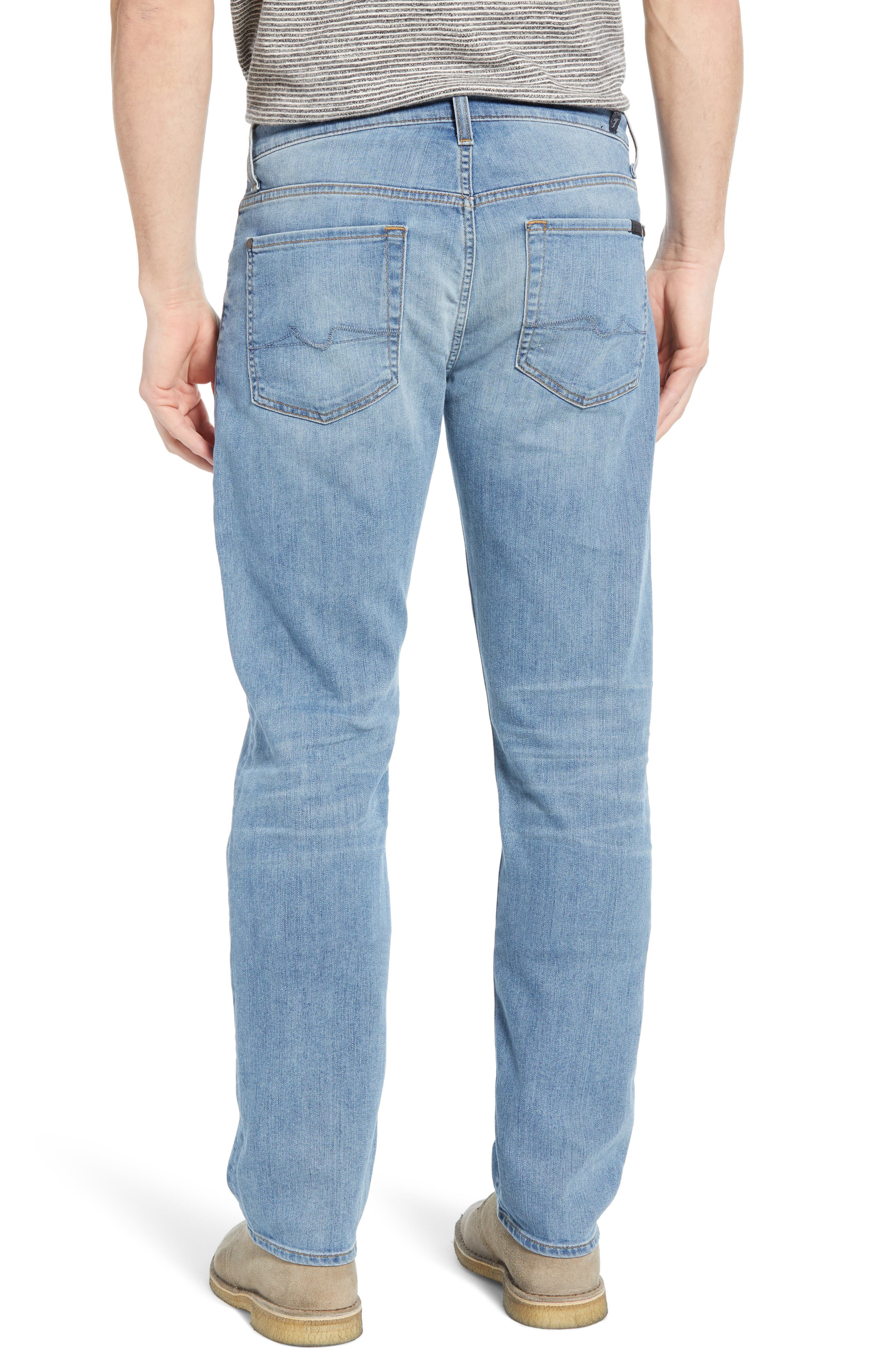 7 FOR ALL MANKIND<SUP>®</SUP>, Slim Straight Leg Jeans, Alternate thumbnail 2, color, INTREPID
