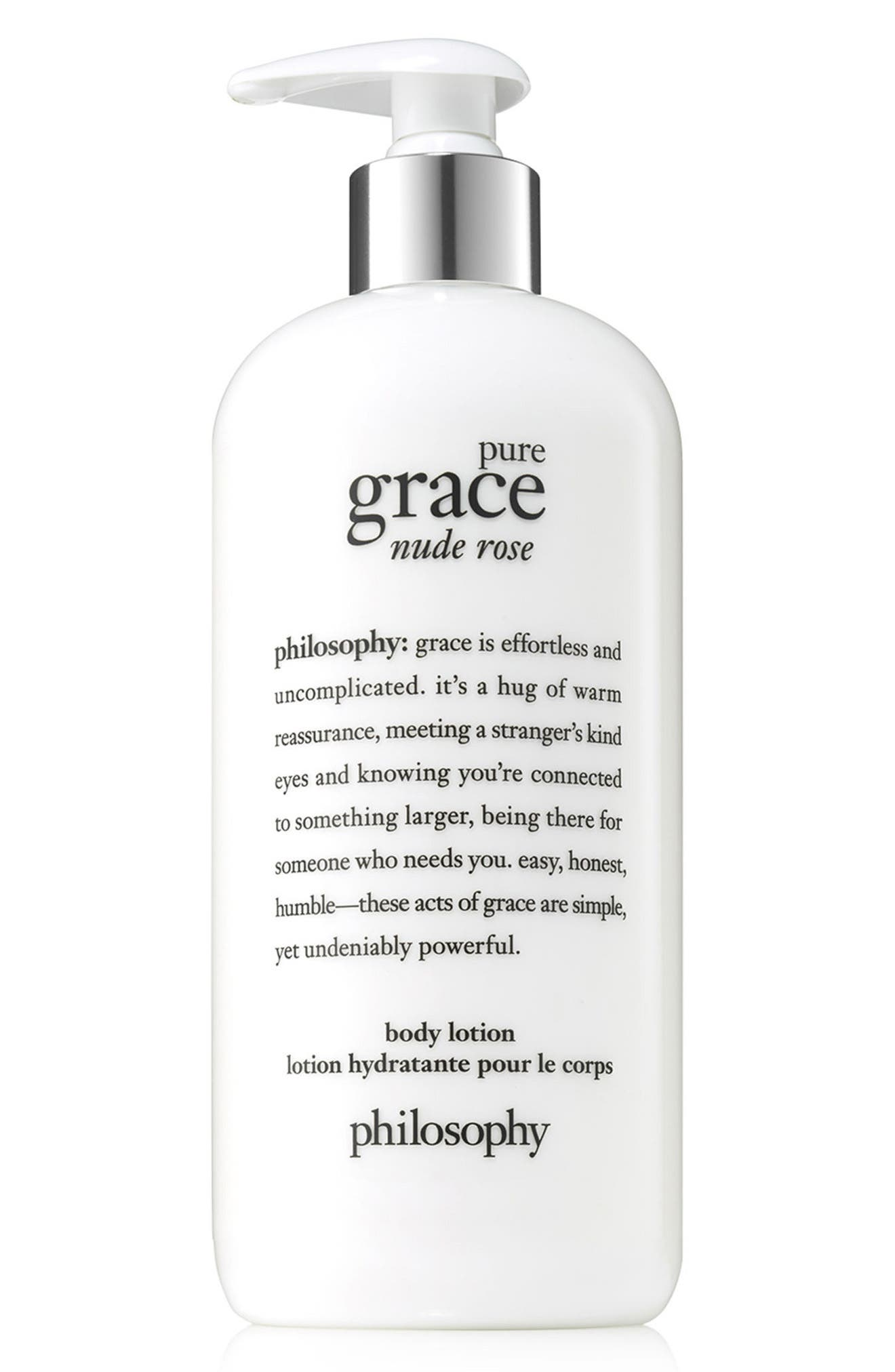 PHILOSOPHY, pure grace nude rose body lotion, Main thumbnail 1, color, NO COLOR