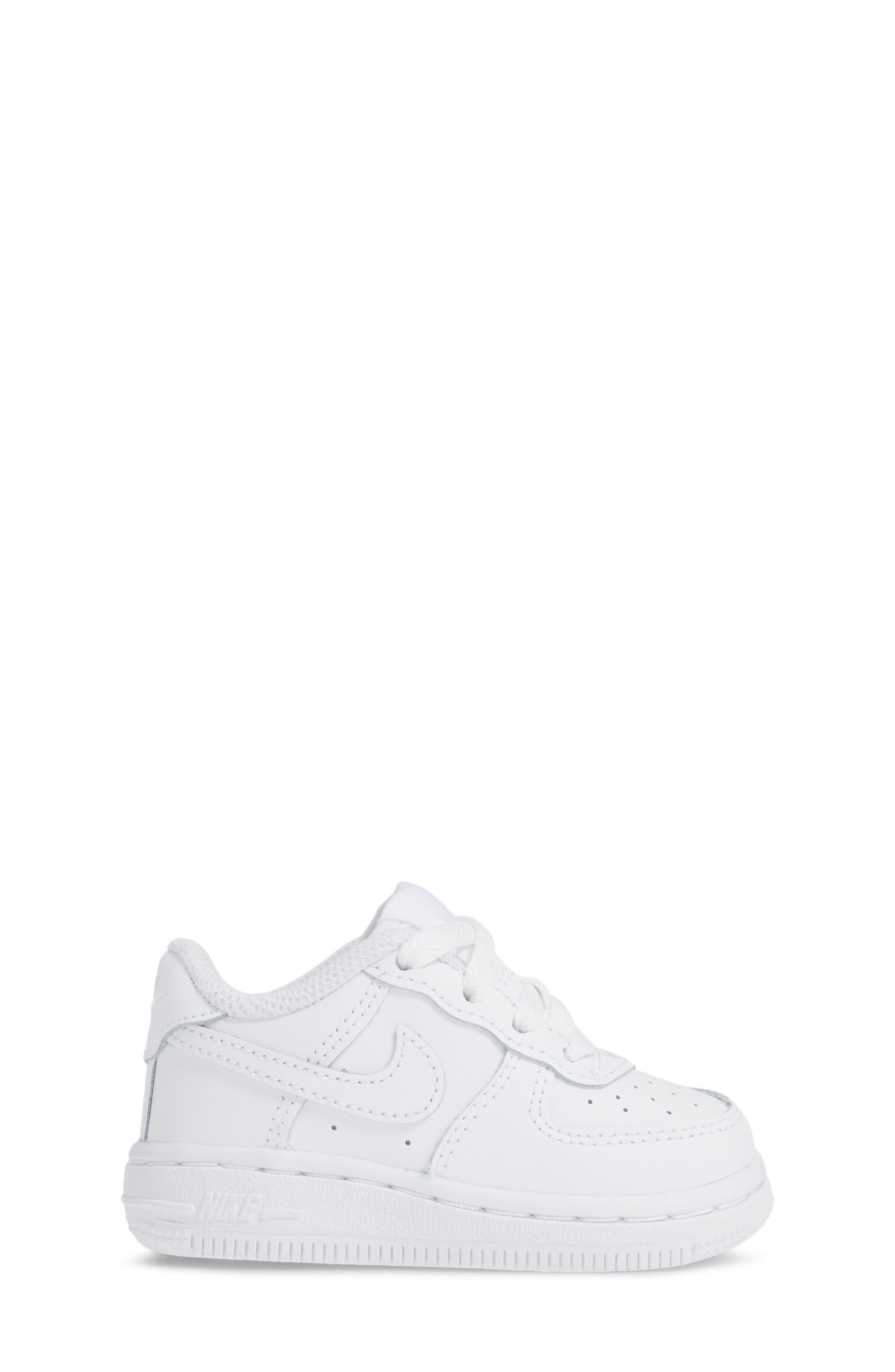 NIKE, Air Force 1 Sneaker, Alternate thumbnail 3, color, WHITE