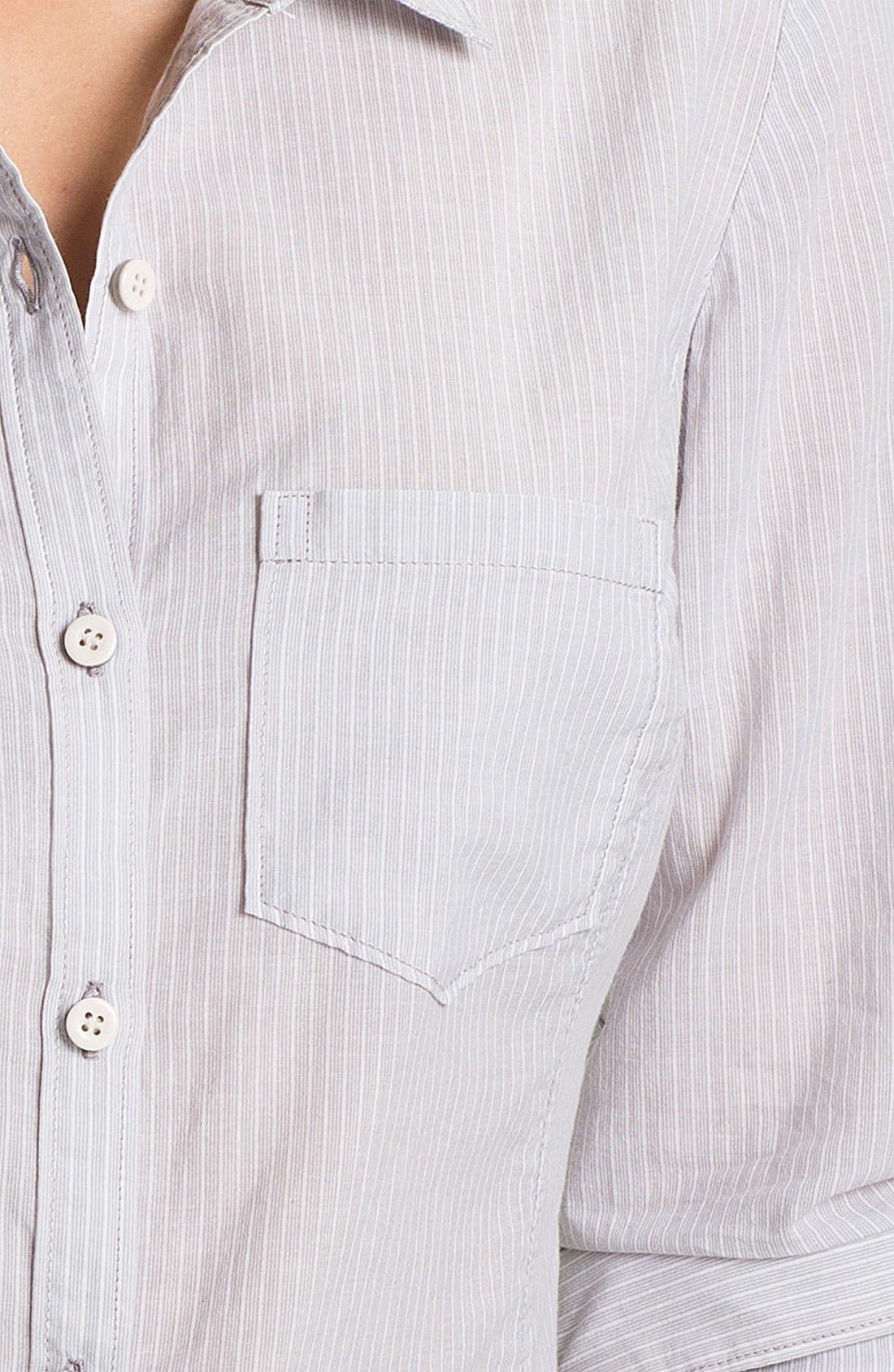 CASLON<SUP>®</SUP>, Long Sleeve Shirt, Alternate thumbnail 3, color, 020