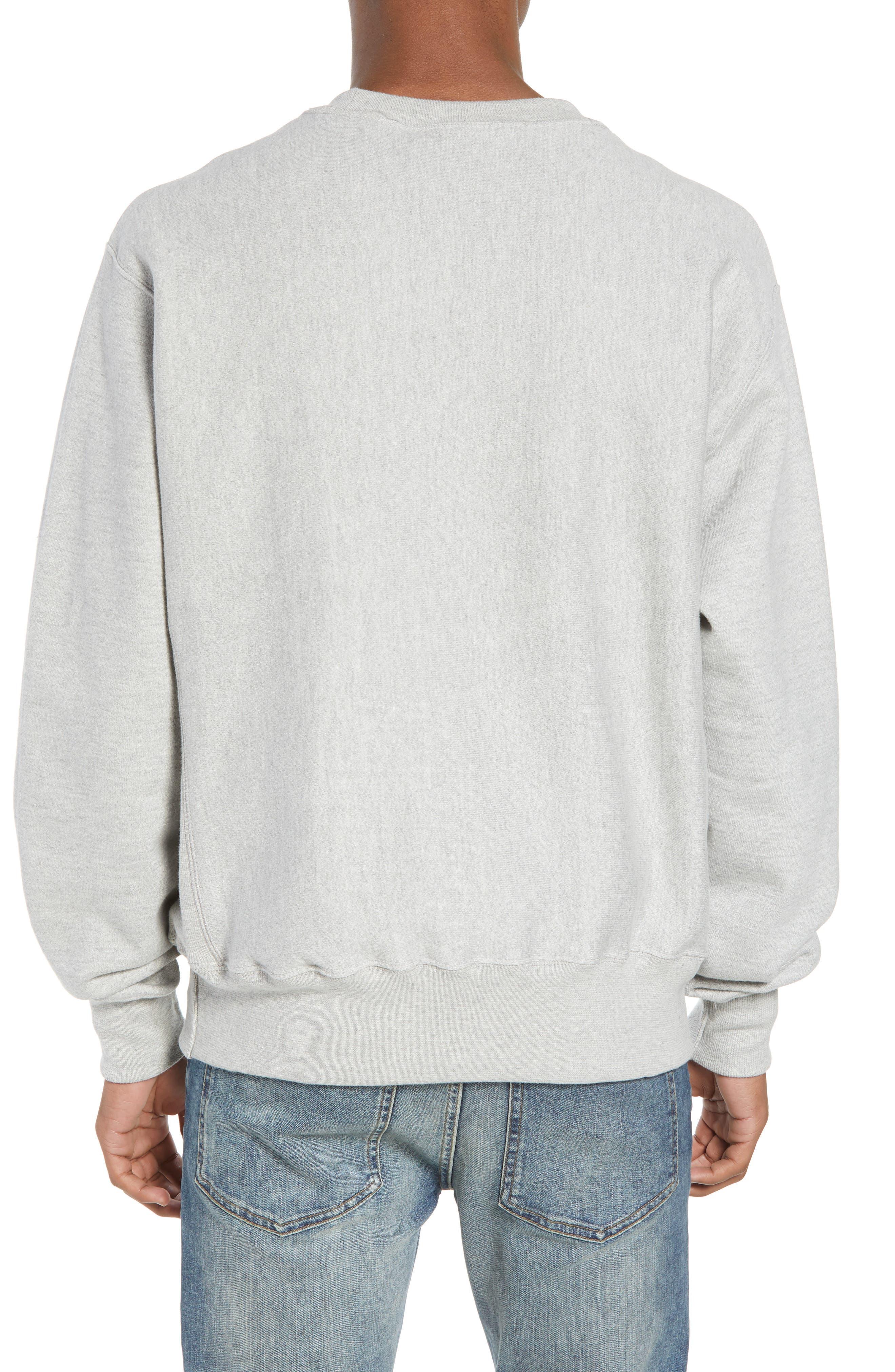 CHAMPION, Reverse Weave Sweatshirt, Alternate thumbnail 2, color, OXFORD GRAY
