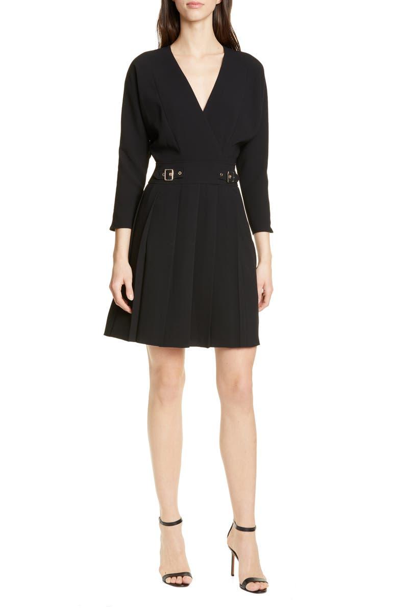Karen Millen Dresses PLEAT FAUX WRAP DRESS