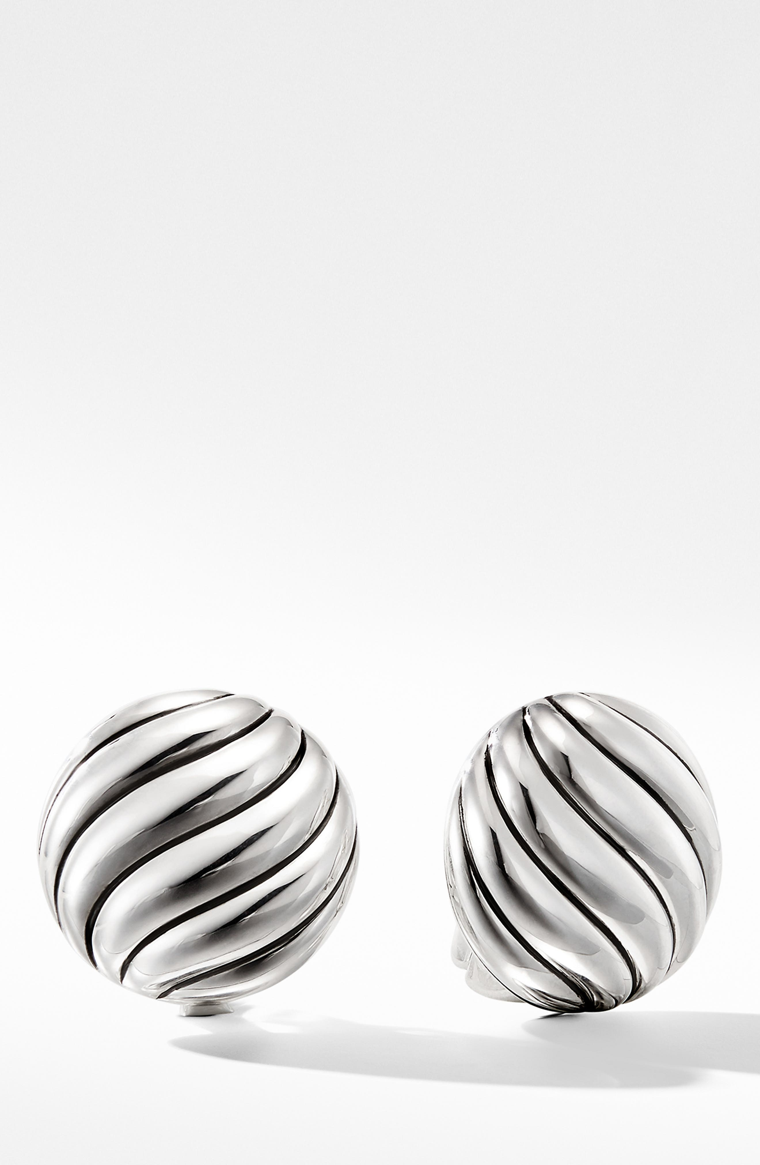 DAVID YURMAN, Cable Stud Earrings in Sterling Silver, Main thumbnail 1, color, SILVER
