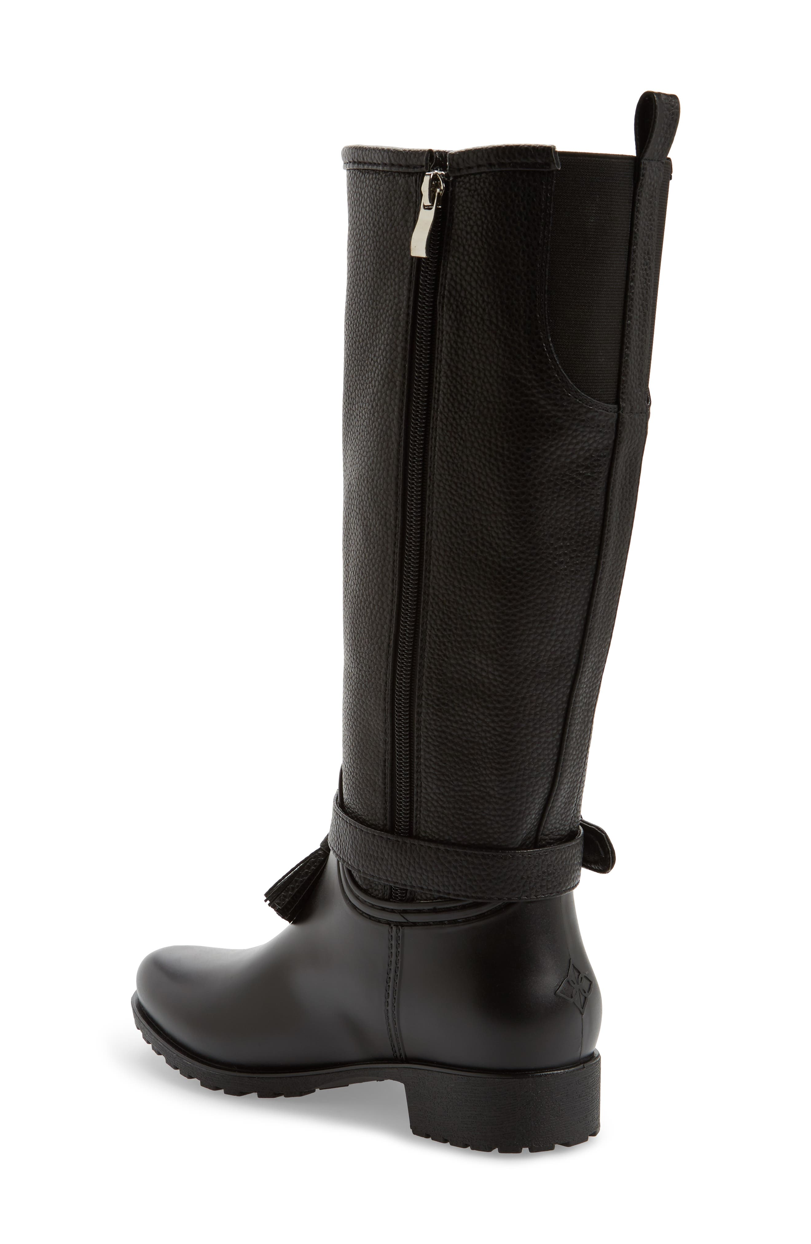 DÄV, Inverness Faux Shearling Lined Water Resistant Boot, Alternate thumbnail 2, color, BLACK