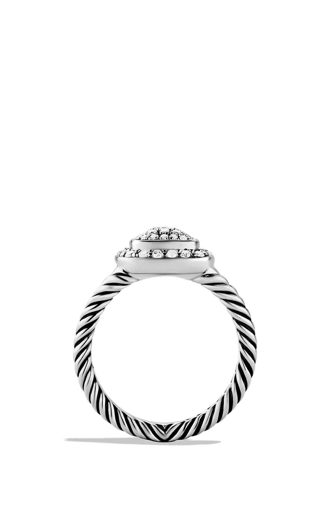 DAVID YURMAN, 'Albion' Petite Ring with Diamonds, Alternate thumbnail 2, color, DIAMOND