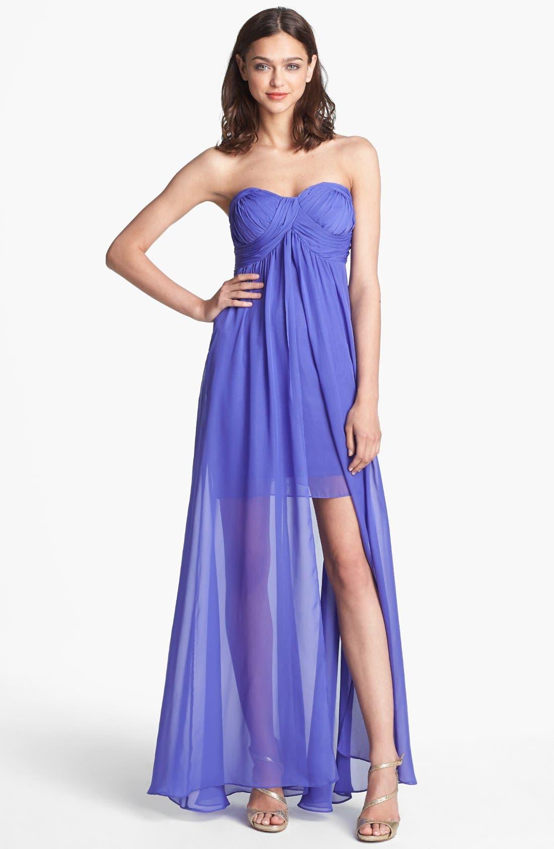 HAILEY BY ADRIANNA PAPELL, Flyaway Chiffon Dress, Main thumbnail 1, color, 513
