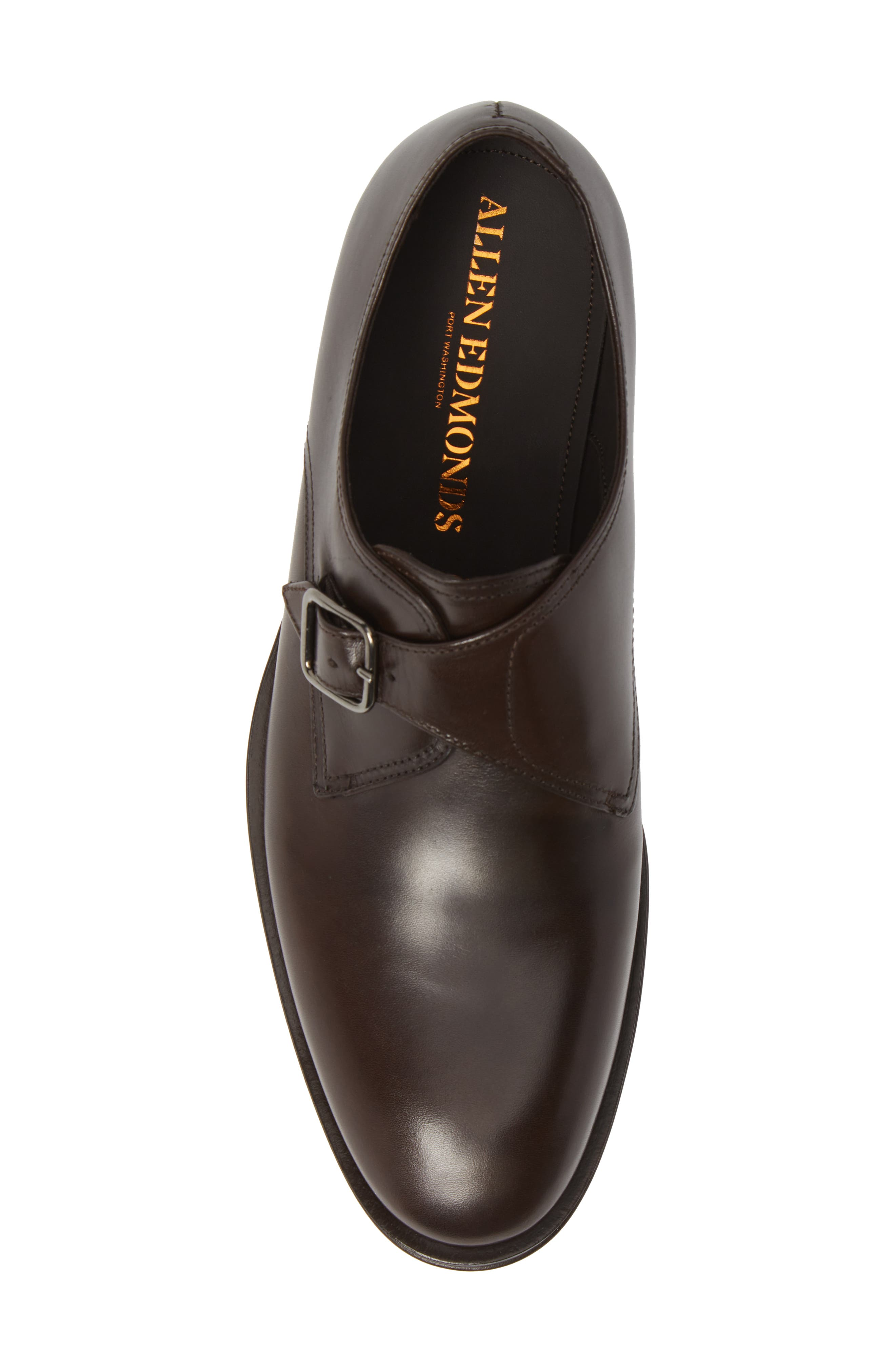 ALLEN EDMONDS, Umbria Monk Strap Shoe, Alternate thumbnail 5, color, DARK BROWN LEATHER