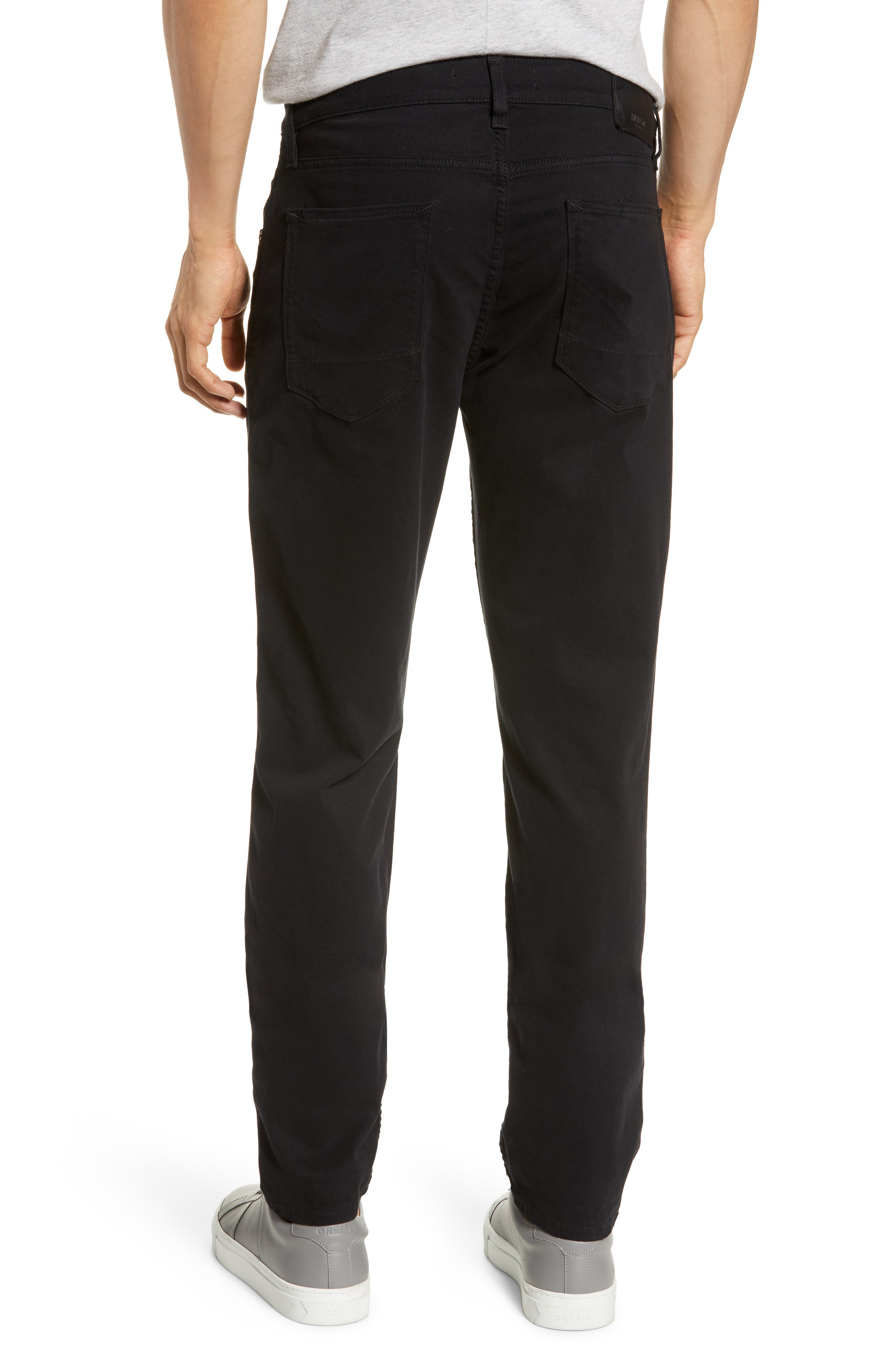 HUDSON JEANS, Blake Slim Fit Jeans, Alternate thumbnail 2, color, BLACK