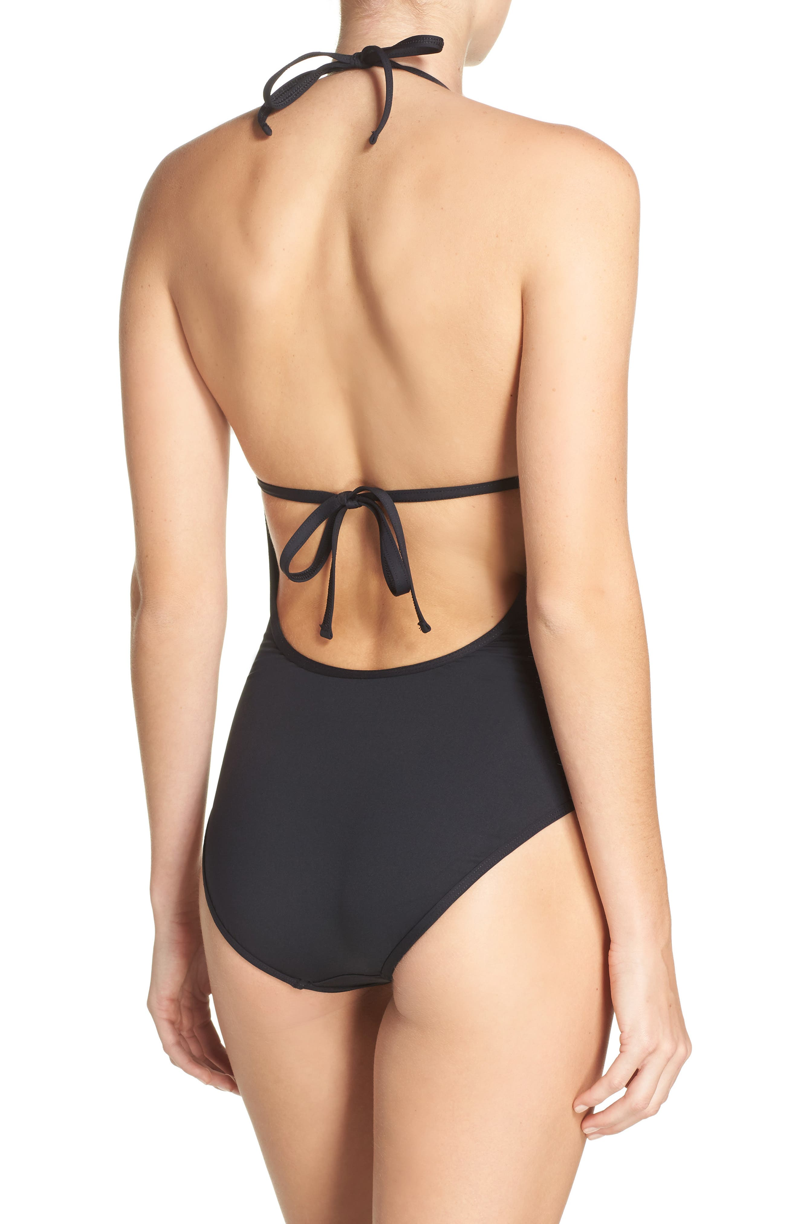 LA BLANCA, All Meshed Up One-Piece Swimsuit, Alternate thumbnail 2, color, 001