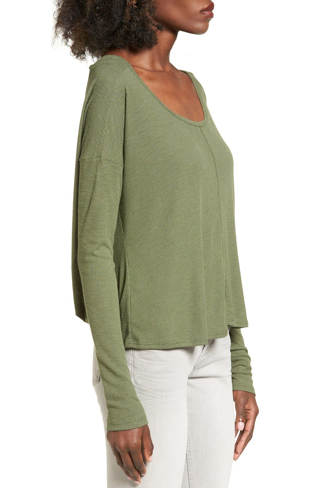 CHLOE & KATIE, Knotted Drape Back Tee, Alternate thumbnail 4, color, 300