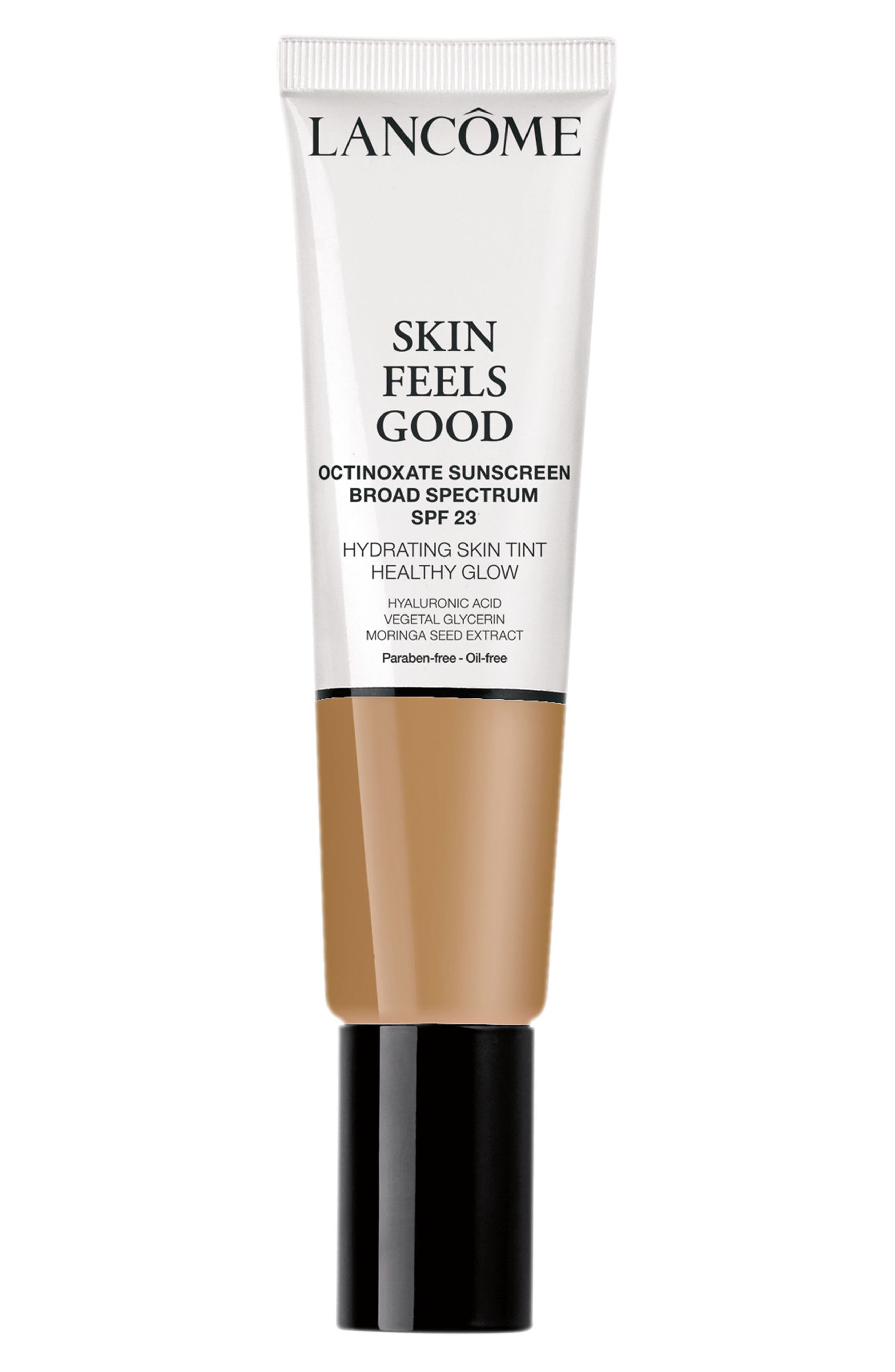 LANCÔME, Skin Feels Good Hydrating Skin Tint Healthy Glow SPF 23, Main thumbnail 1, color, 05N RADIANT TAN