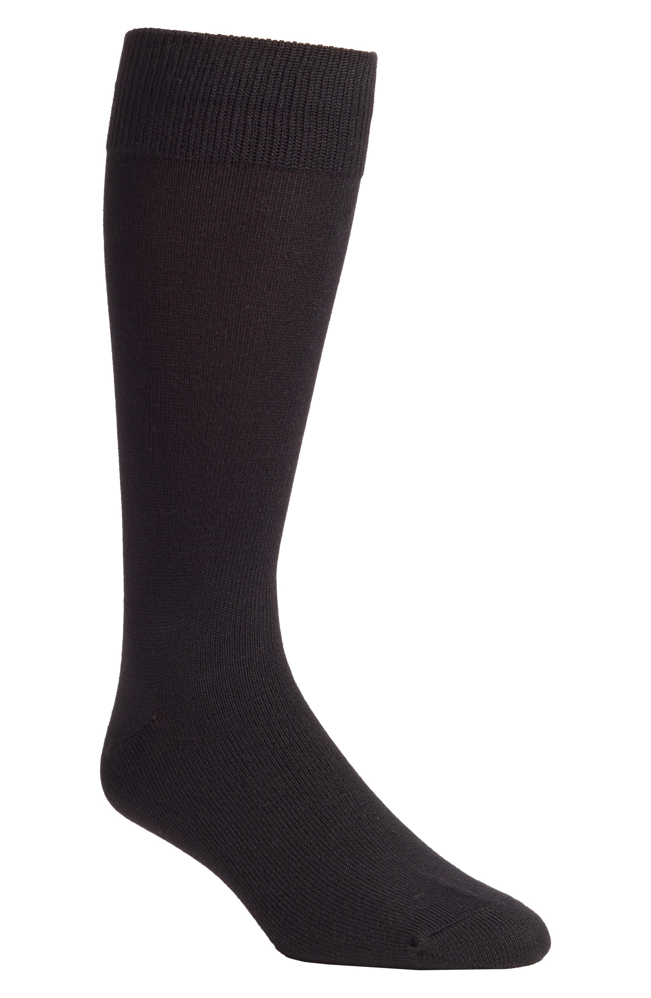 NORDSTROM MEN'S SHOP, Ultra Soft Socks, Main thumbnail 1, color, BLACK