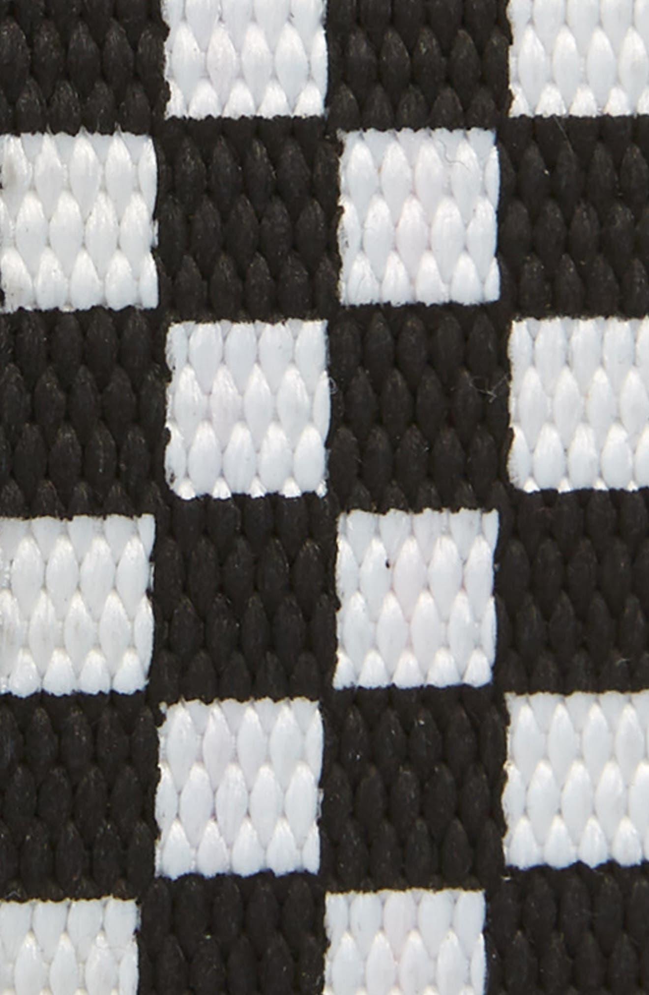 THE RAIL, Reed Web Belt, Alternate thumbnail 2, color, BLACK/ WHITE CHECKERBOARD