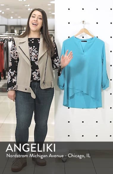x International Women's Day Erin Cross Front Tunic Blouse, sales video thumbnail