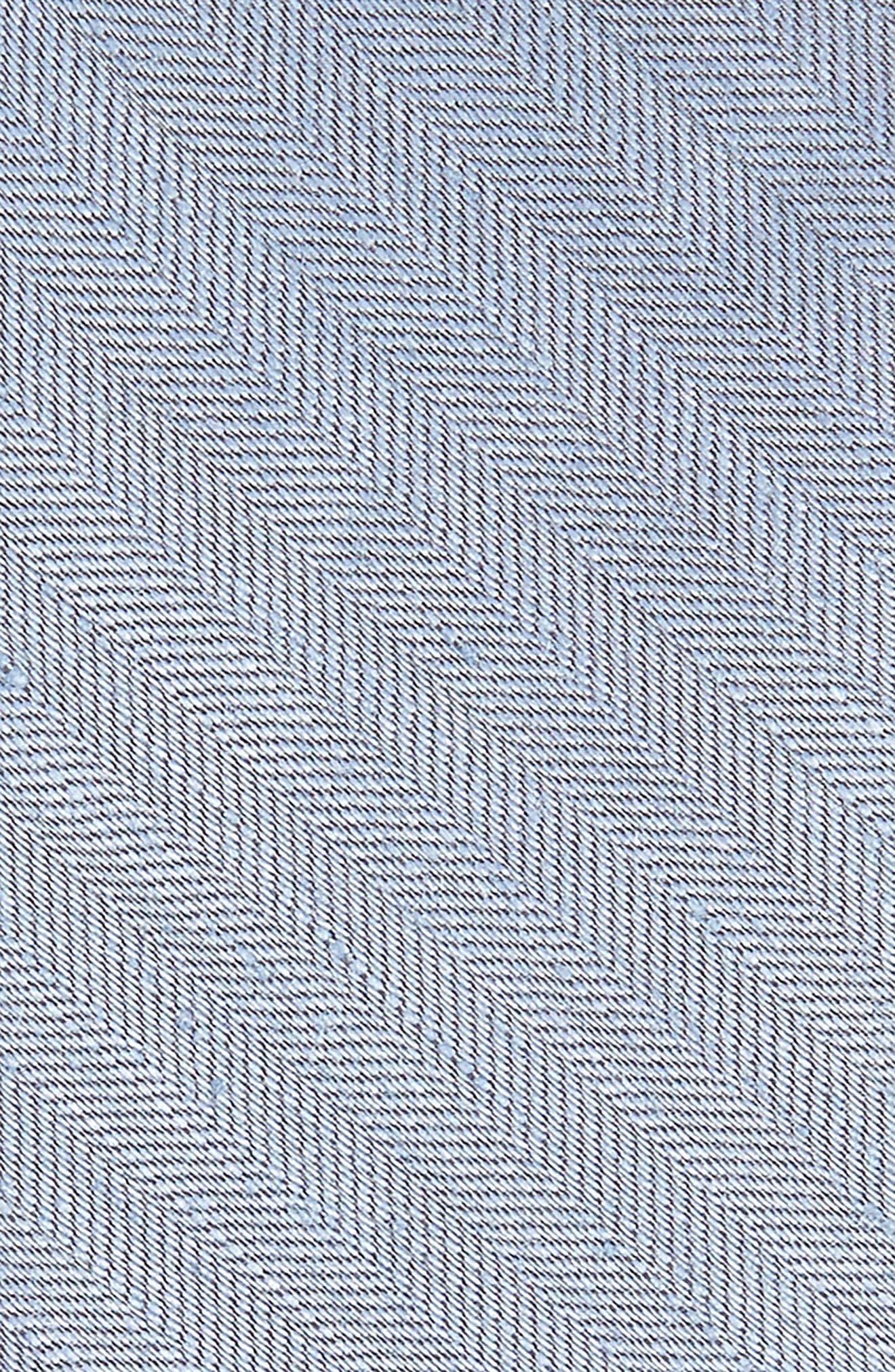THE TIE BAR, Herringbone Linen & Silk Skinny Tie, Alternate thumbnail 2, color, SLATE
