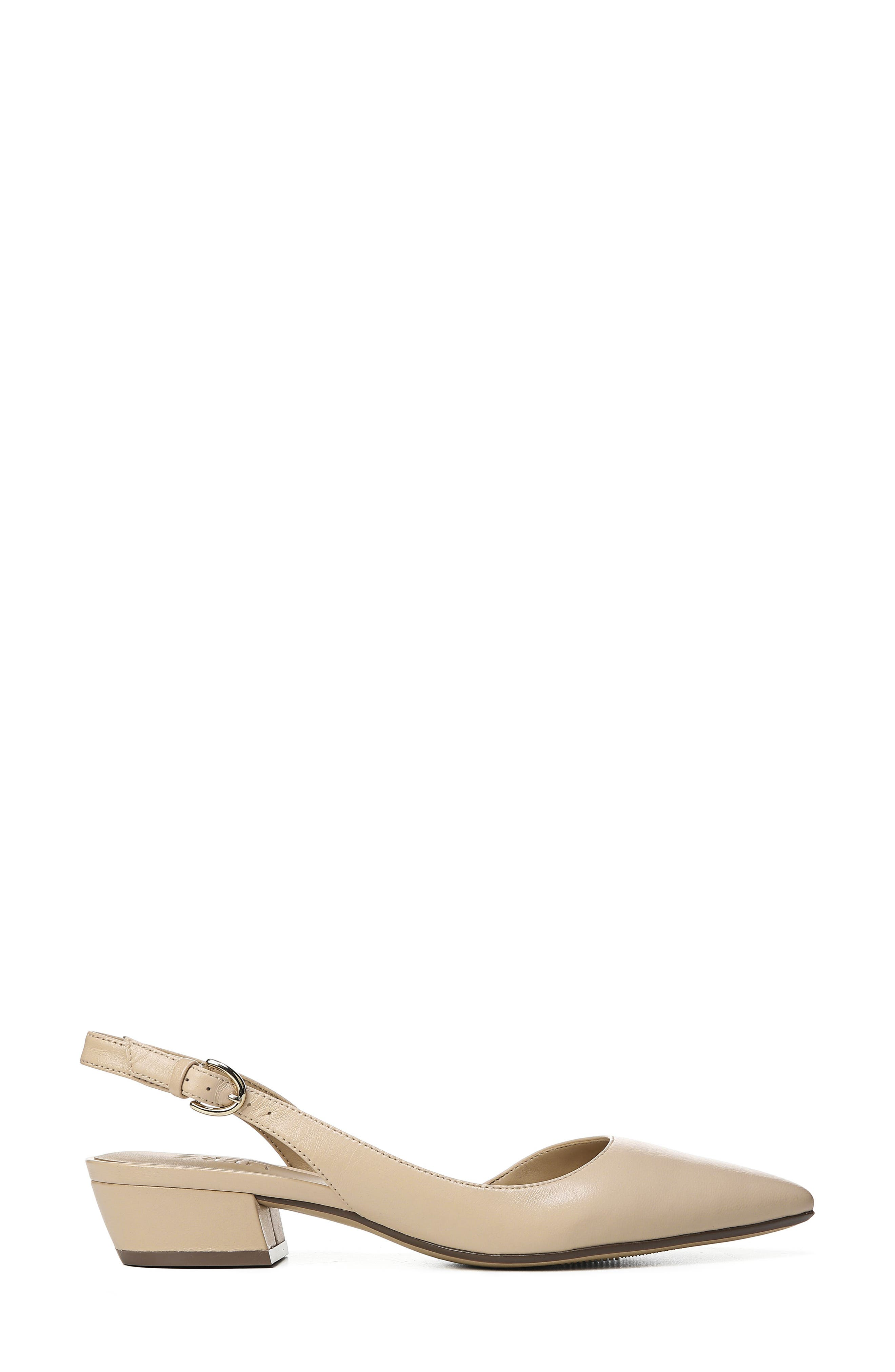 NATURALIZER, Banks Pump, Alternate thumbnail 3, color, SOFT NUDE LEATHER