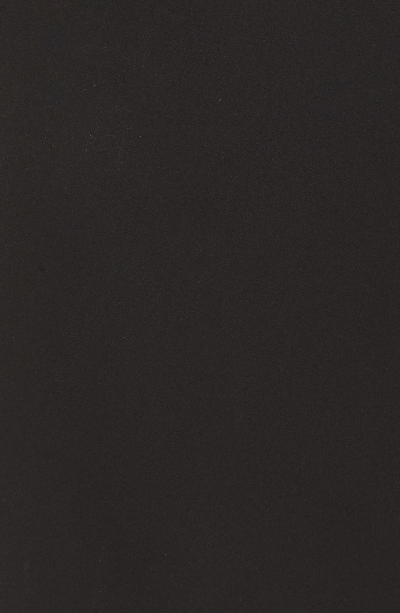 ELIZA J, Off the Shoulder Sheath Dress, Alternate thumbnail 7, color, BLACK