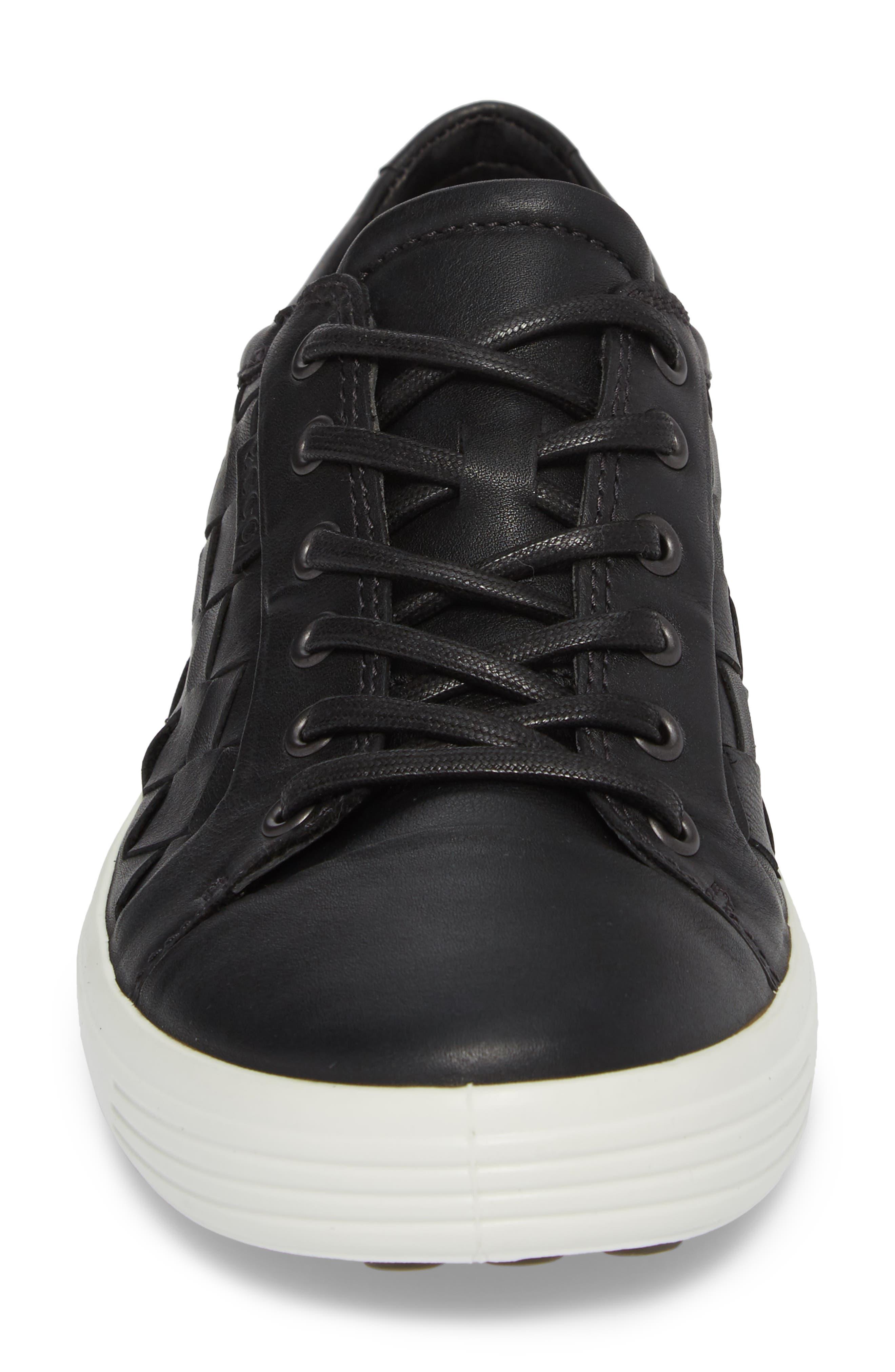 ECCO, Soft 7 Woven Sneaker, Alternate thumbnail 4, color, 009