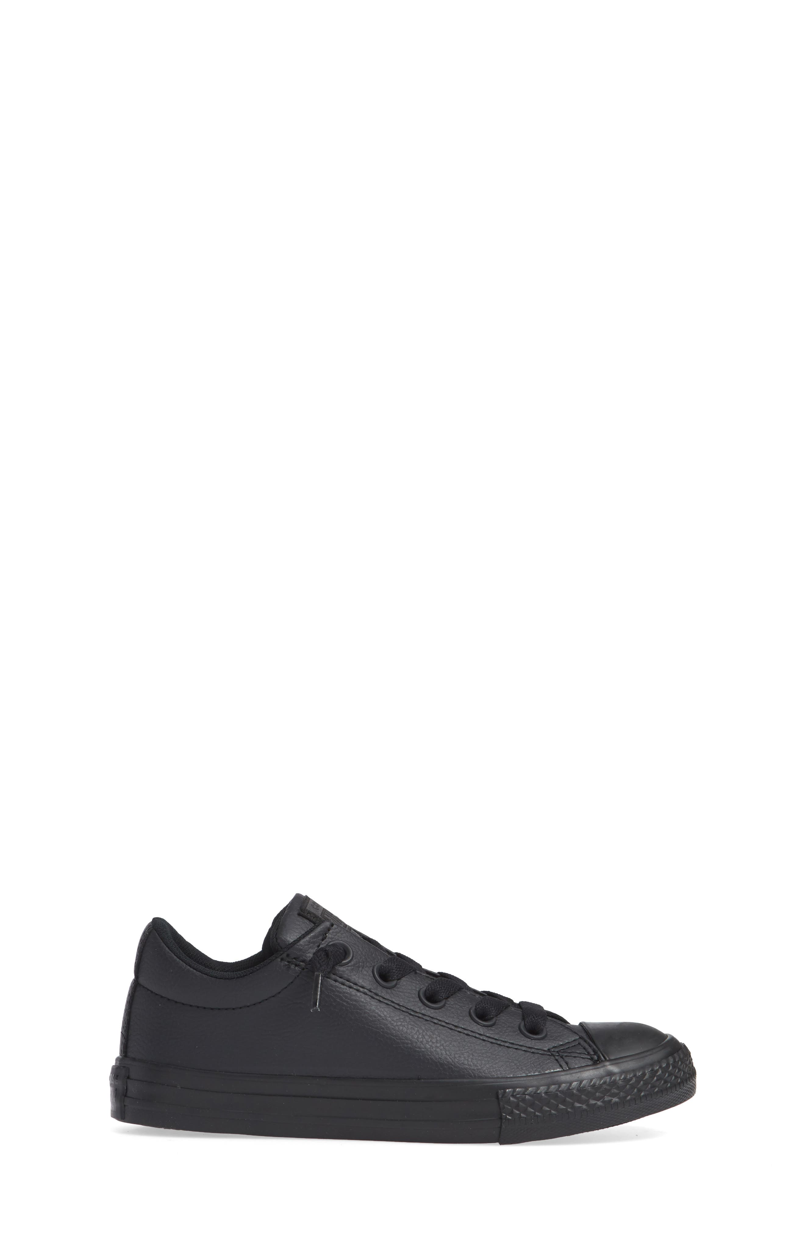 CONVERSE, Chuck Taylor<sup>®</sup> All Star<sup>®</sup> 'Street Ox' Sneaker, Alternate thumbnail 3, color, BLACK MONO