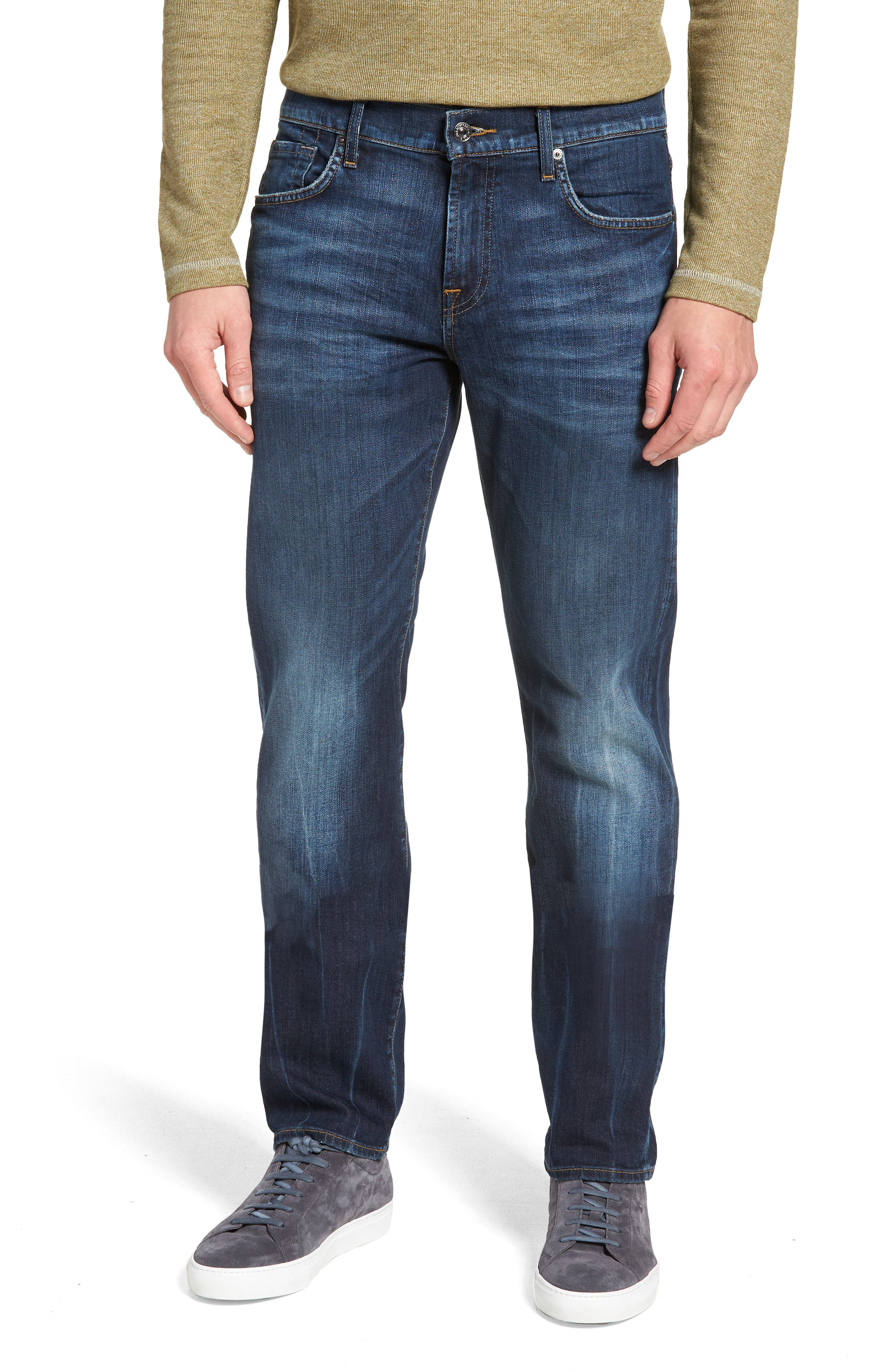 7 FOR ALL MANKIND<SUP>®</SUP>, Luxe Standard Straight Leg Jeans, Main thumbnail 1, color, 414