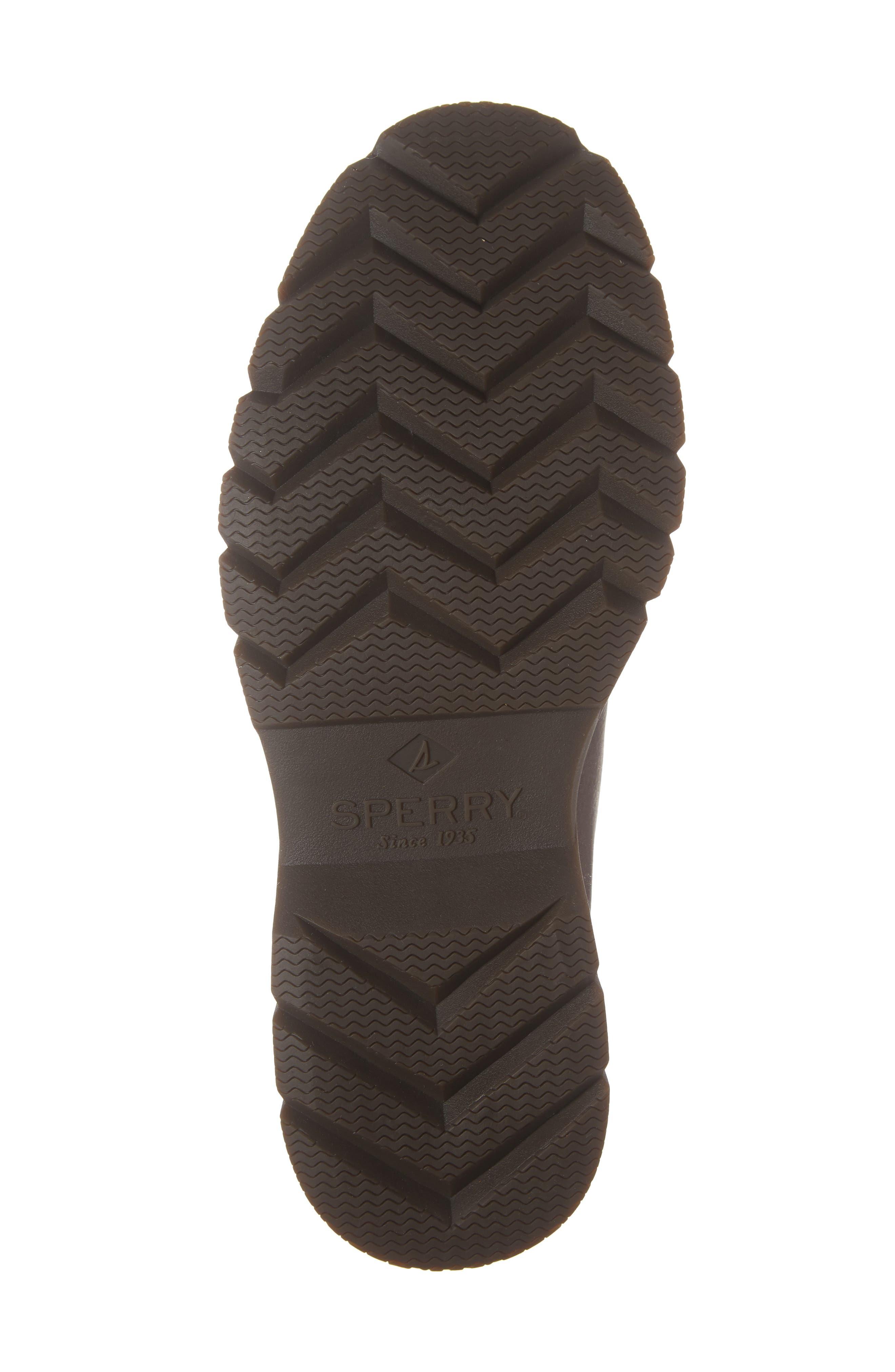 SPERRY, Watertown Waterproof Plain Toe Boot, Alternate thumbnail 6, color, DARK BROWN