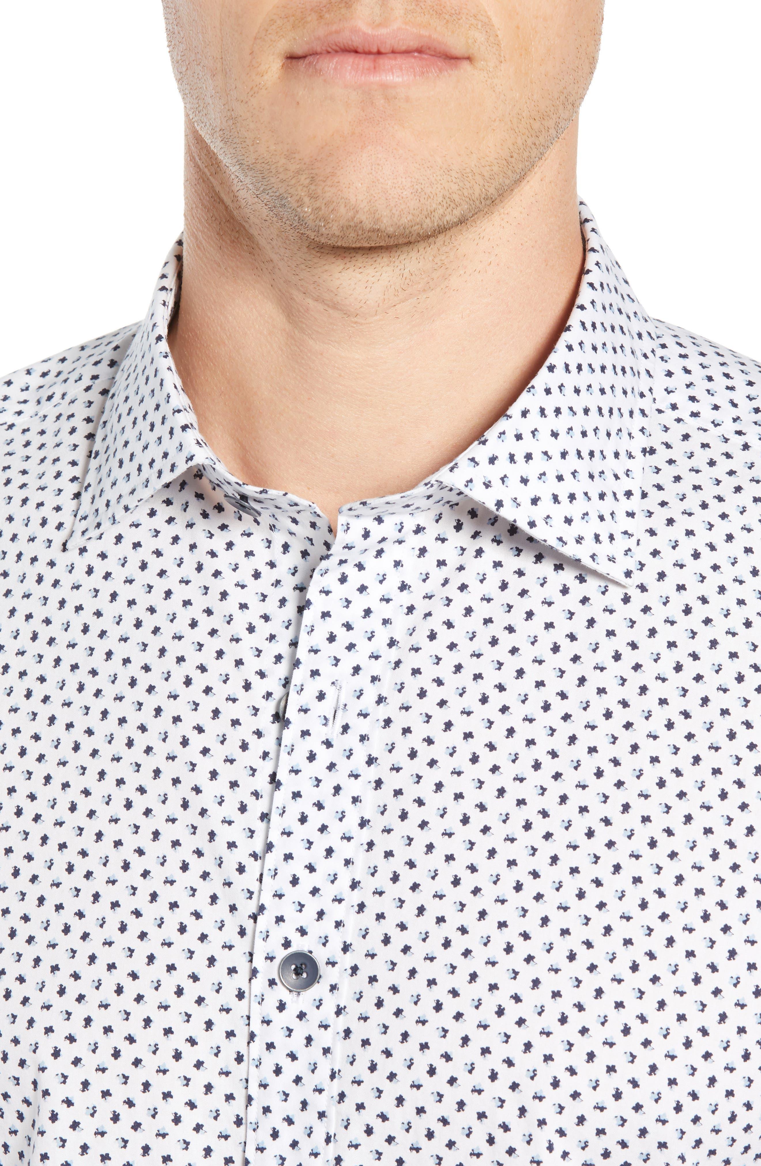 RODD & GUNN, Northcross Sport Shirt, Alternate thumbnail 2, color, IVORY