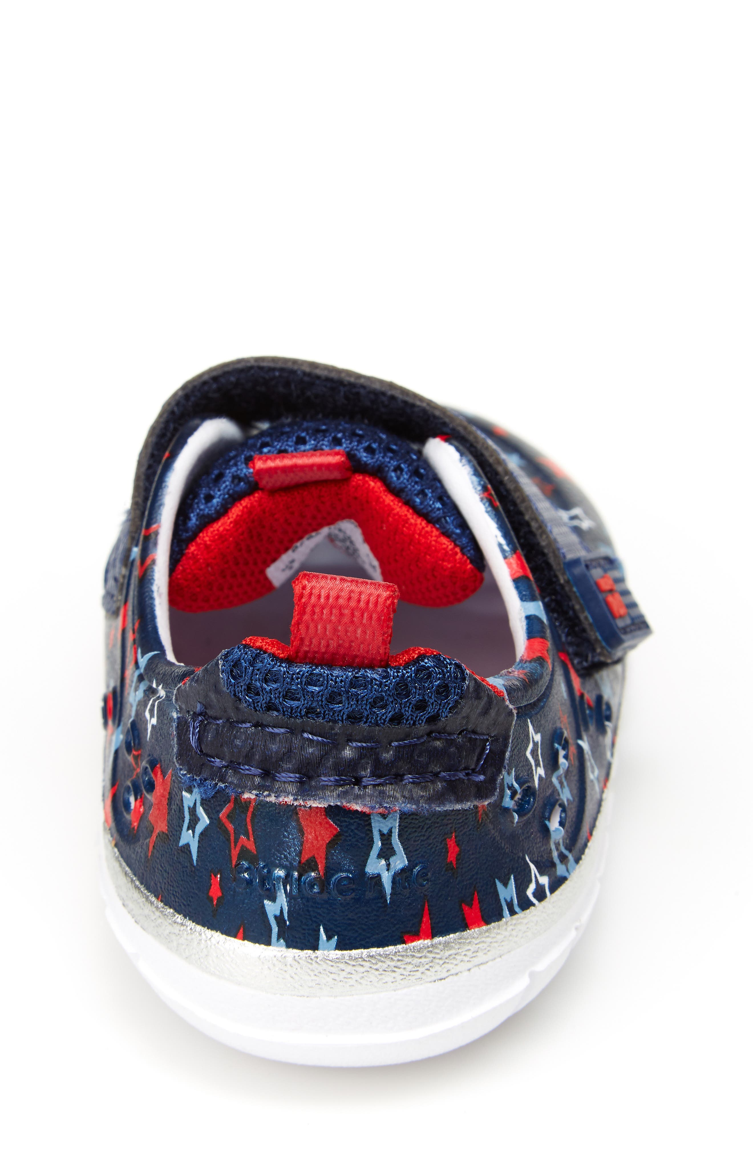 STRIDE RITE, Made2Play<sup>®</sup> Phibian Sneaker, Alternate thumbnail 7, color, NAVY STAR