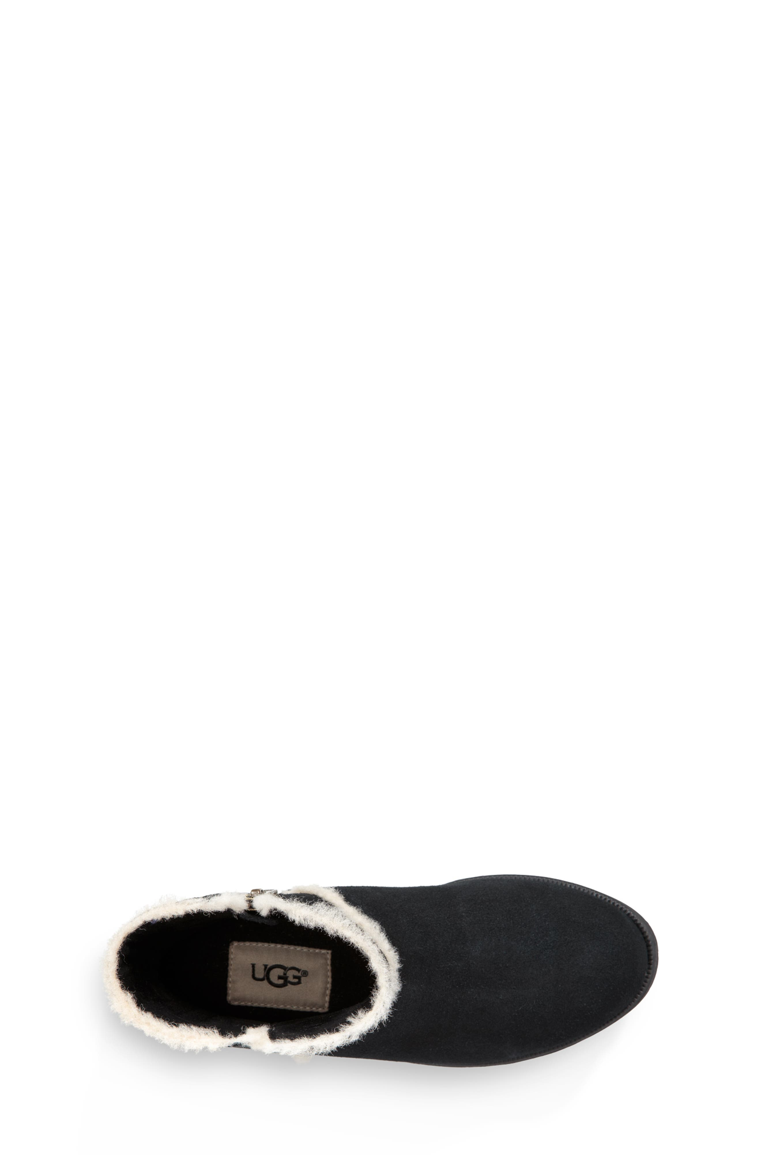 UGG<SUP>®</SUP>, Coletta Short Boot, Alternate thumbnail 4, color, BLACK