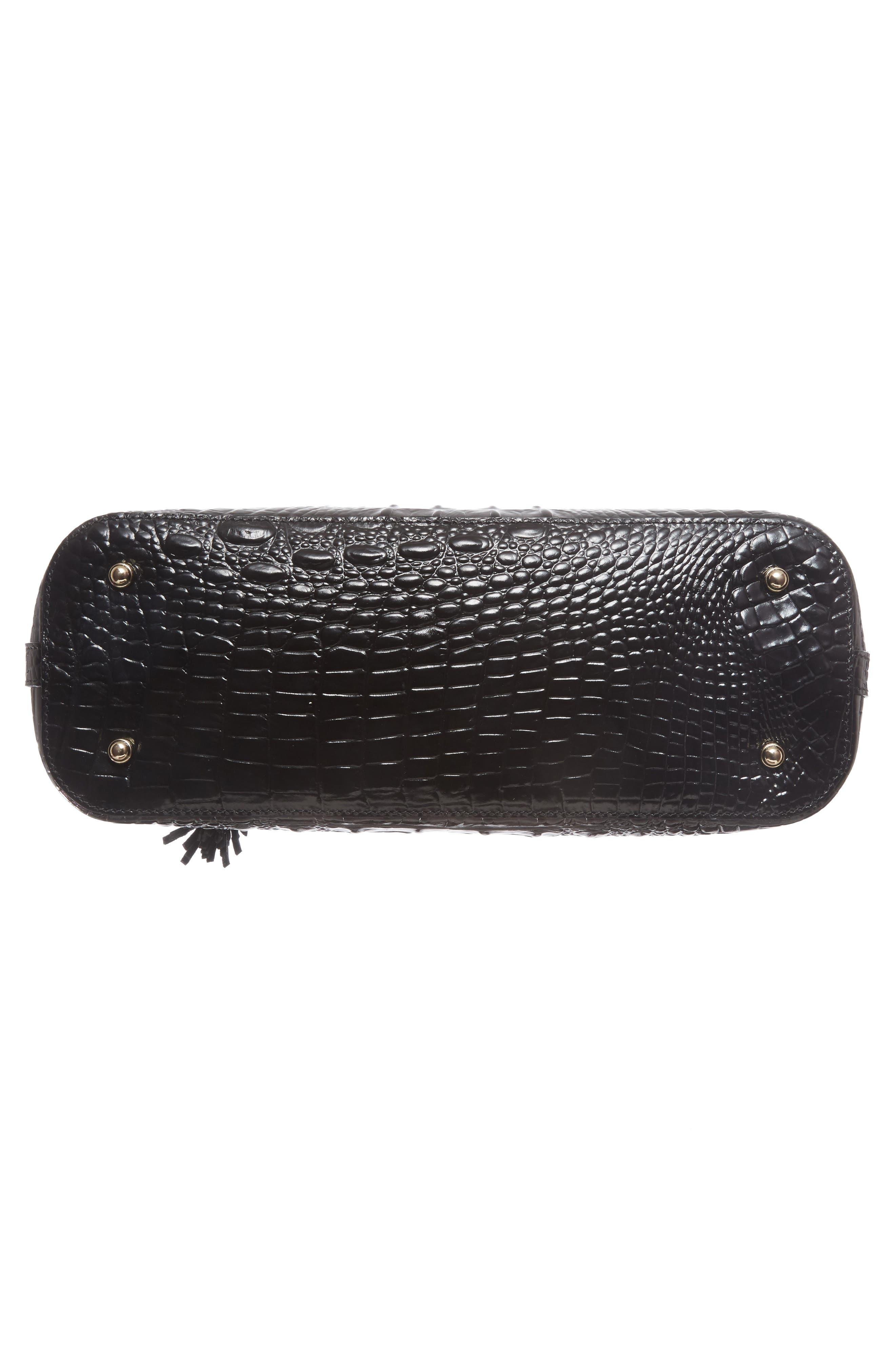 BRAHMIN, Melbourne Mini Asher Leather Tote, Alternate thumbnail 7, color, BLACK