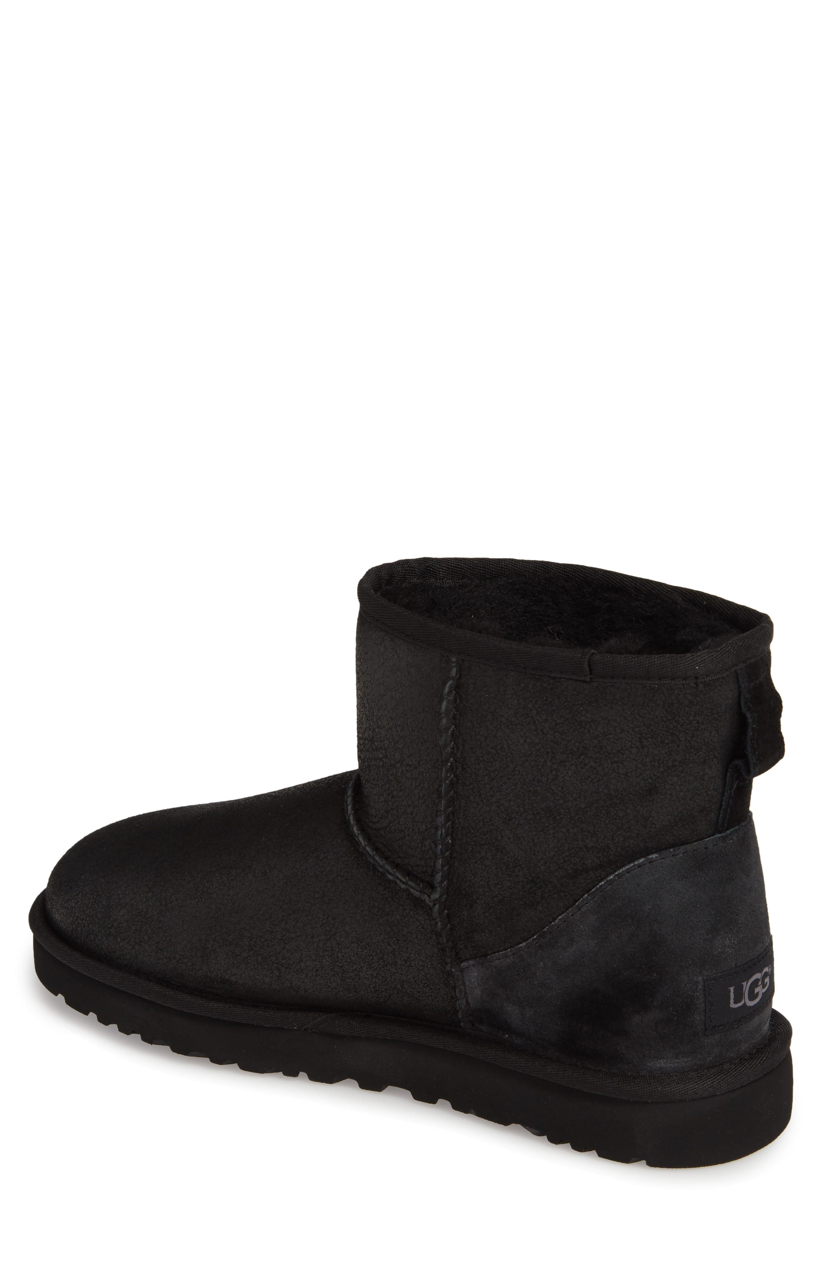 UGG<SUP>®</SUP>, Classic Mini Bomber Boot with Genuine Shearling or UGGpure<sup>™</sup> Lining, Alternate thumbnail 2, color, BOMBER JACKET BLACK