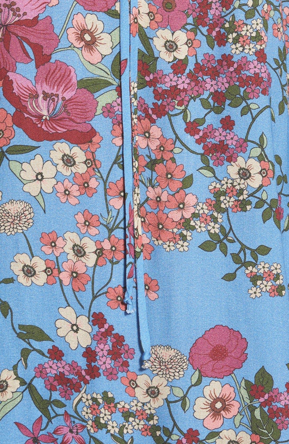 WAYF, Cold Shoulder Shift Dress, Alternate thumbnail 4, color, 400