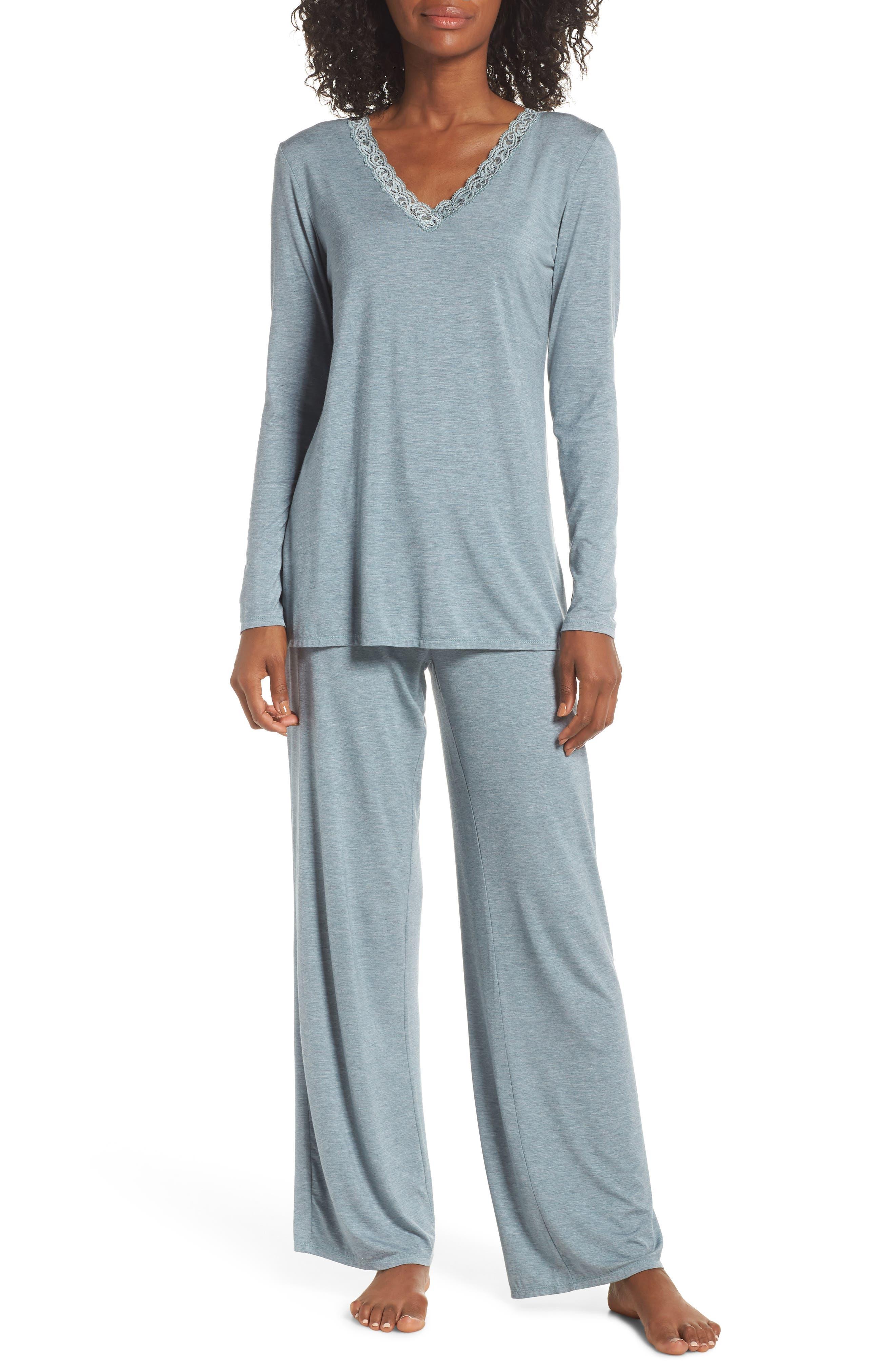 NATORI, Feathers Pajamas, Main thumbnail 1, color, 443