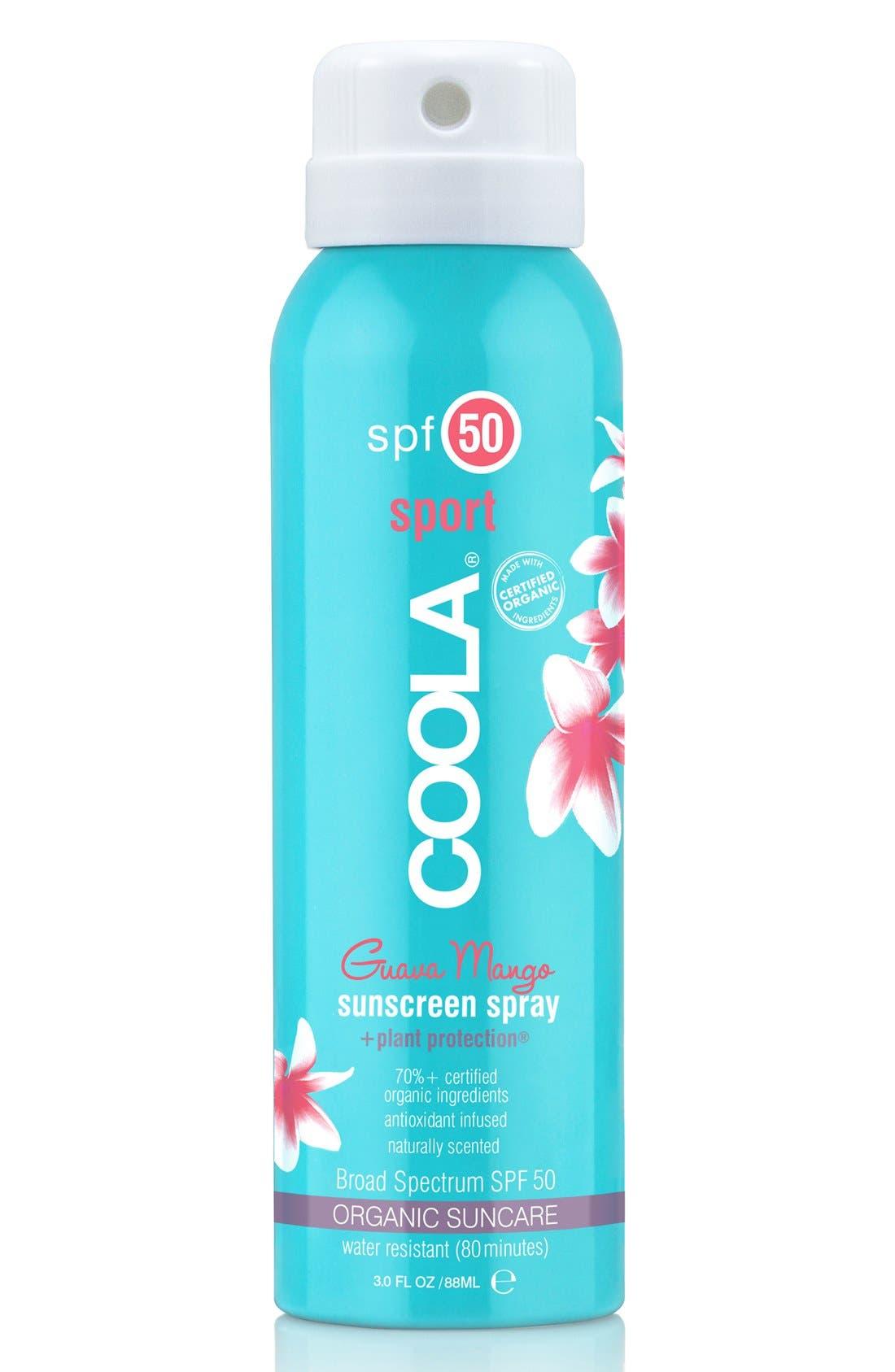 COOLA SUNCARE, COOLA<sup>®</sup> Suncare Guava Mango Eco-Lux Sport Sunscreen Spray SPF 50, Alternate thumbnail 4, color, NO COLOR