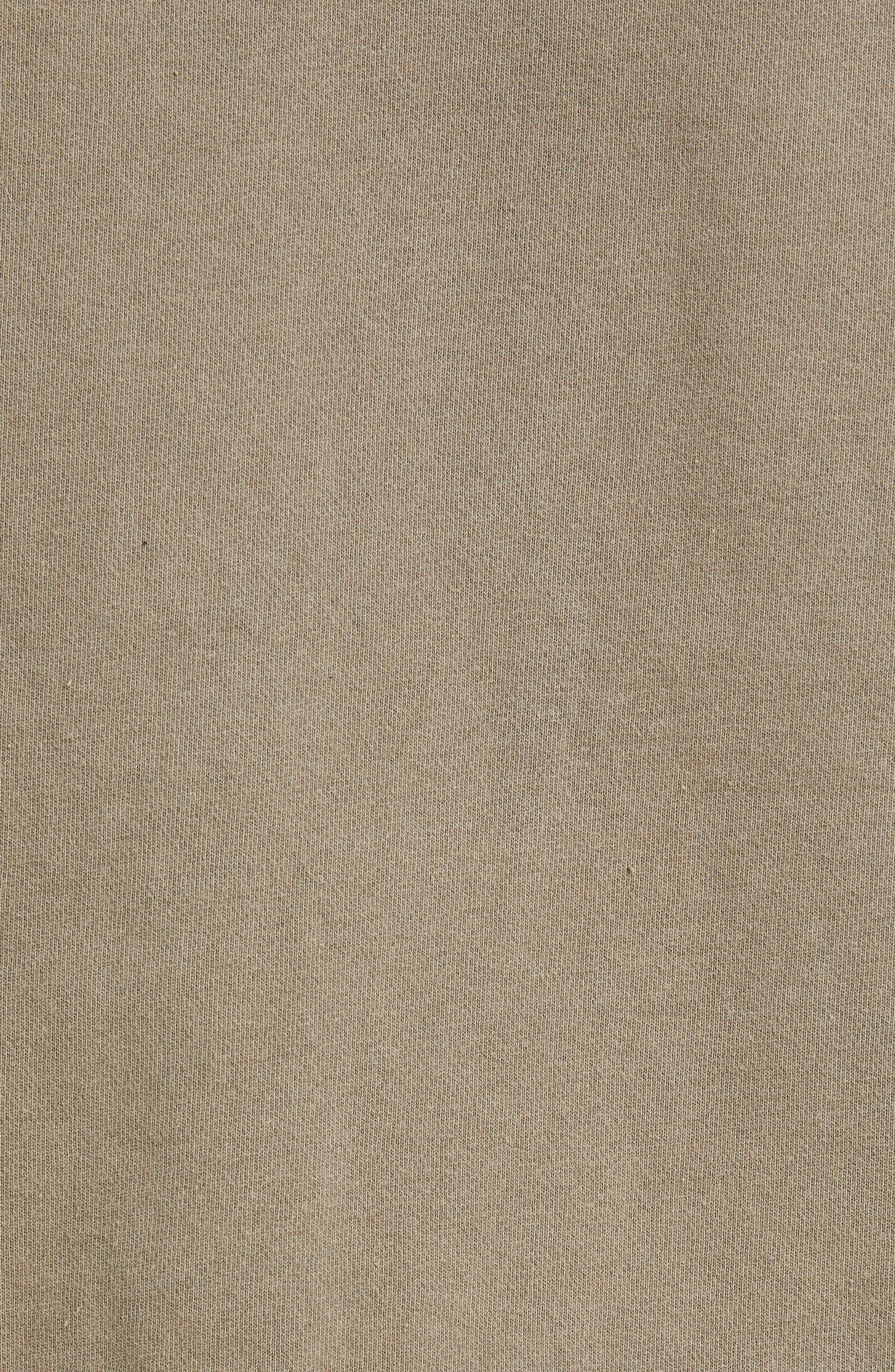 KSUBI, Seeing Lines Hooded Sweatshirt, Alternate thumbnail 5, color, BEIGE