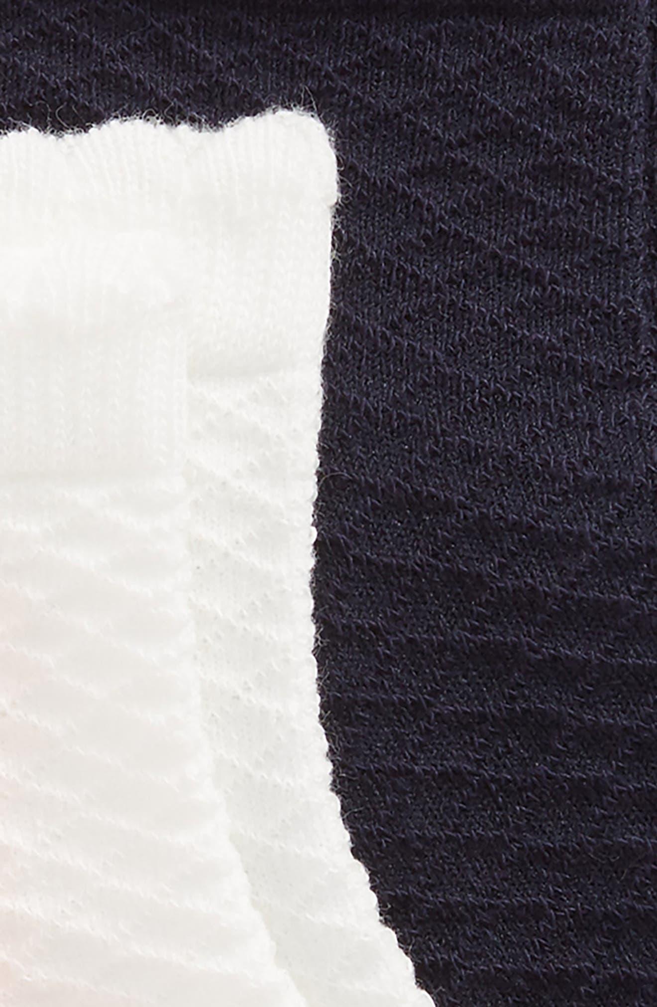 RUBY & BLOOM, 3-Pack Diamond Pointelle Ankle Socks, Alternate thumbnail 2, color, PINK MULTI