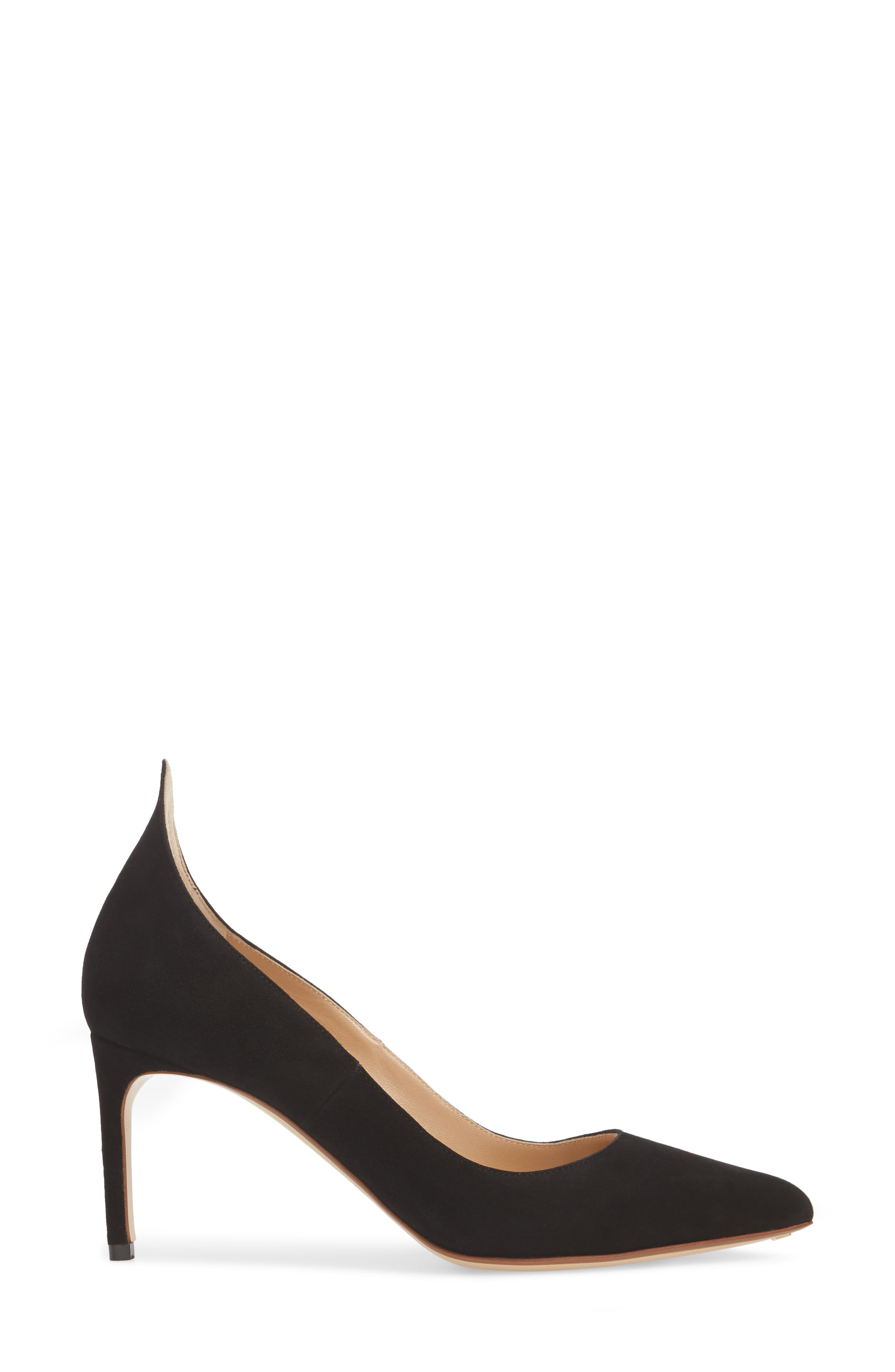 FRANCESCO RUSSO, Flame Pointy Toe Pump, Alternate thumbnail 3, color, BLACK