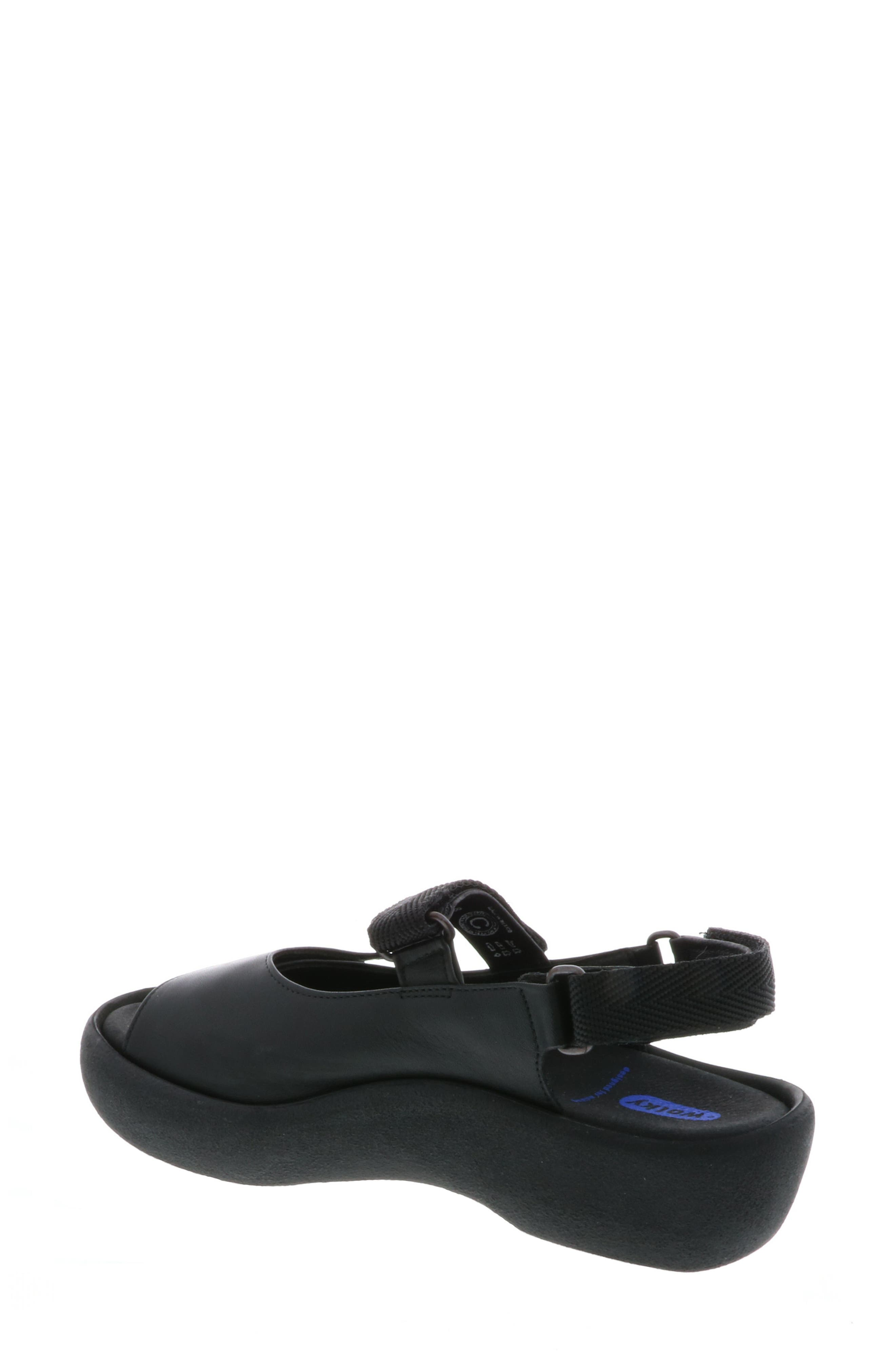 WOLKY, Jewel Sport Sandal, Alternate thumbnail 2, color, BLACK/ BLACK