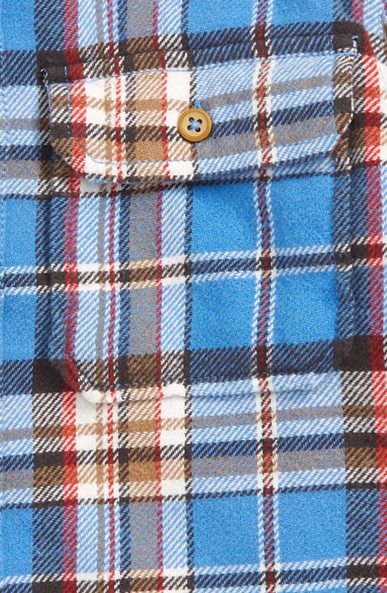 TUCKER + TATE, Plaid Flannel Shirt, Alternate thumbnail 2, color, BLUE LAPIS BILLY PLAID