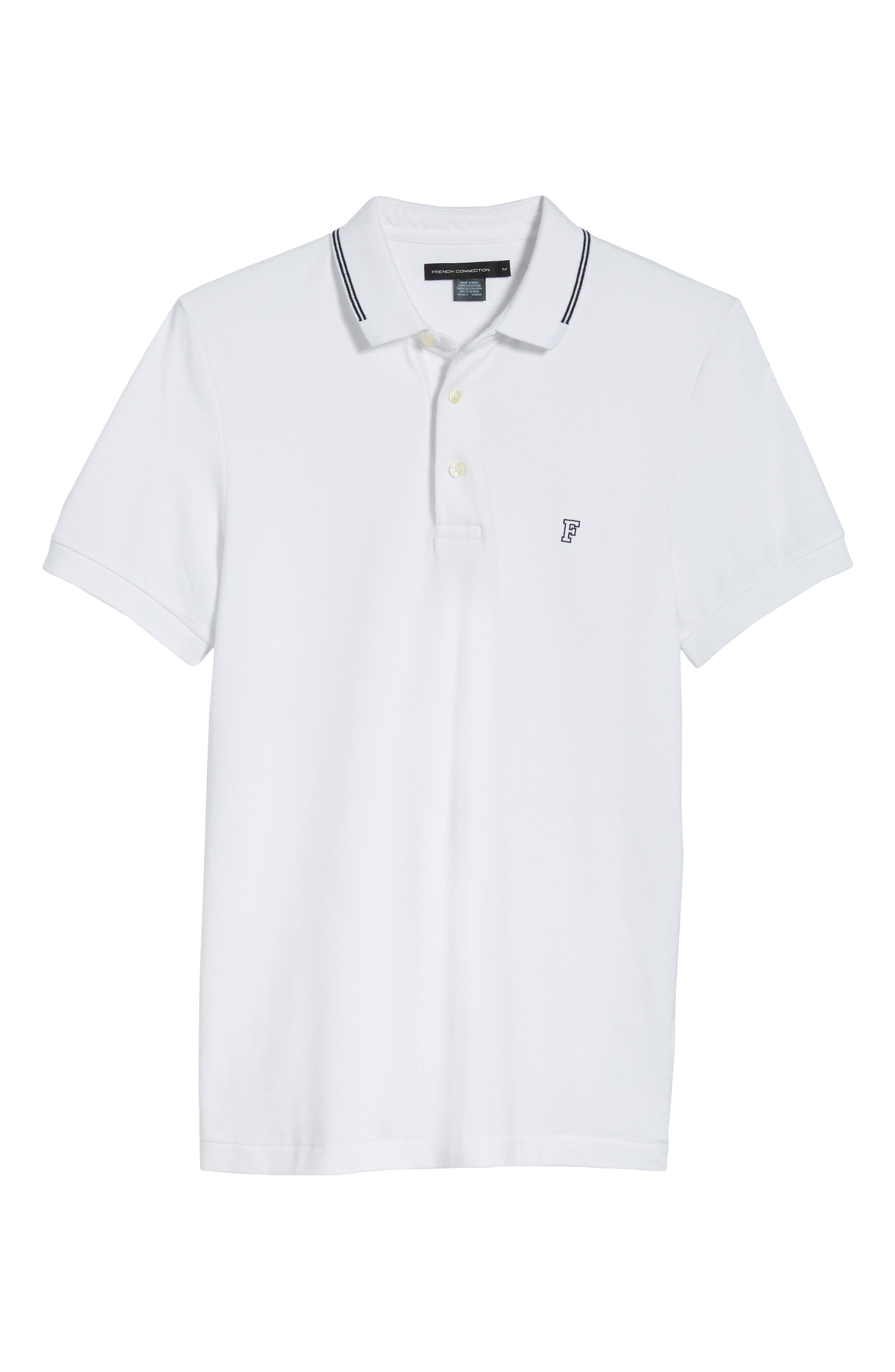 FRENCH CONNECTION, Summer Tipped Polo, Alternate thumbnail 6, color, 121