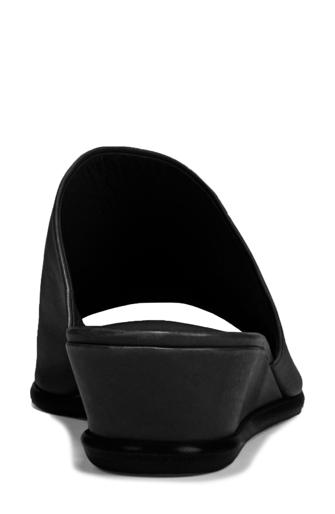 VINCE, Duvall Asymmetrical Wedge Sandal, Alternate thumbnail 7, color, BLACK
