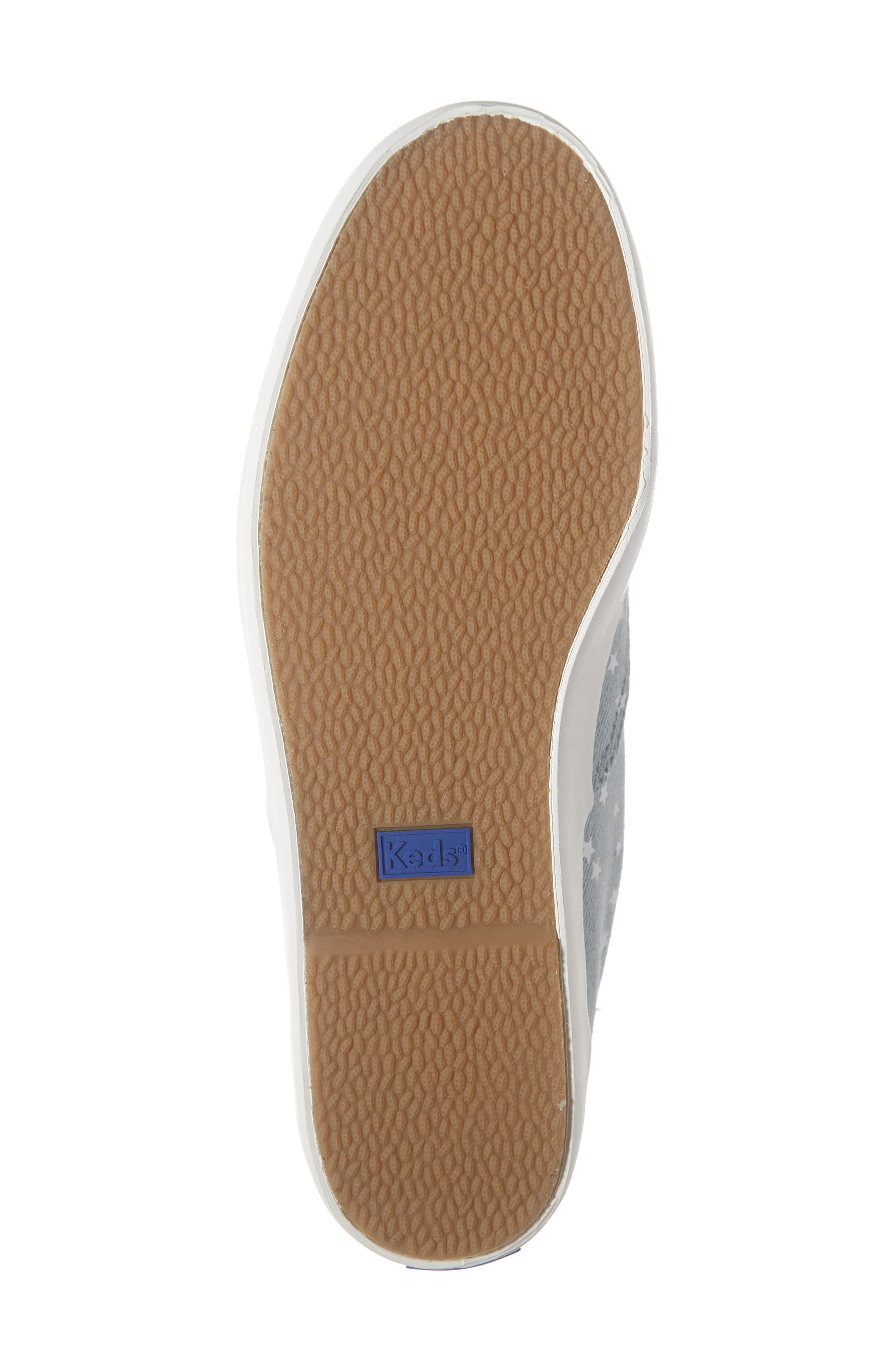 KEDS<SUP>®</SUP>, Rise Denim Star Sneaker, Alternate thumbnail 6, color, LIGHT BLUE
