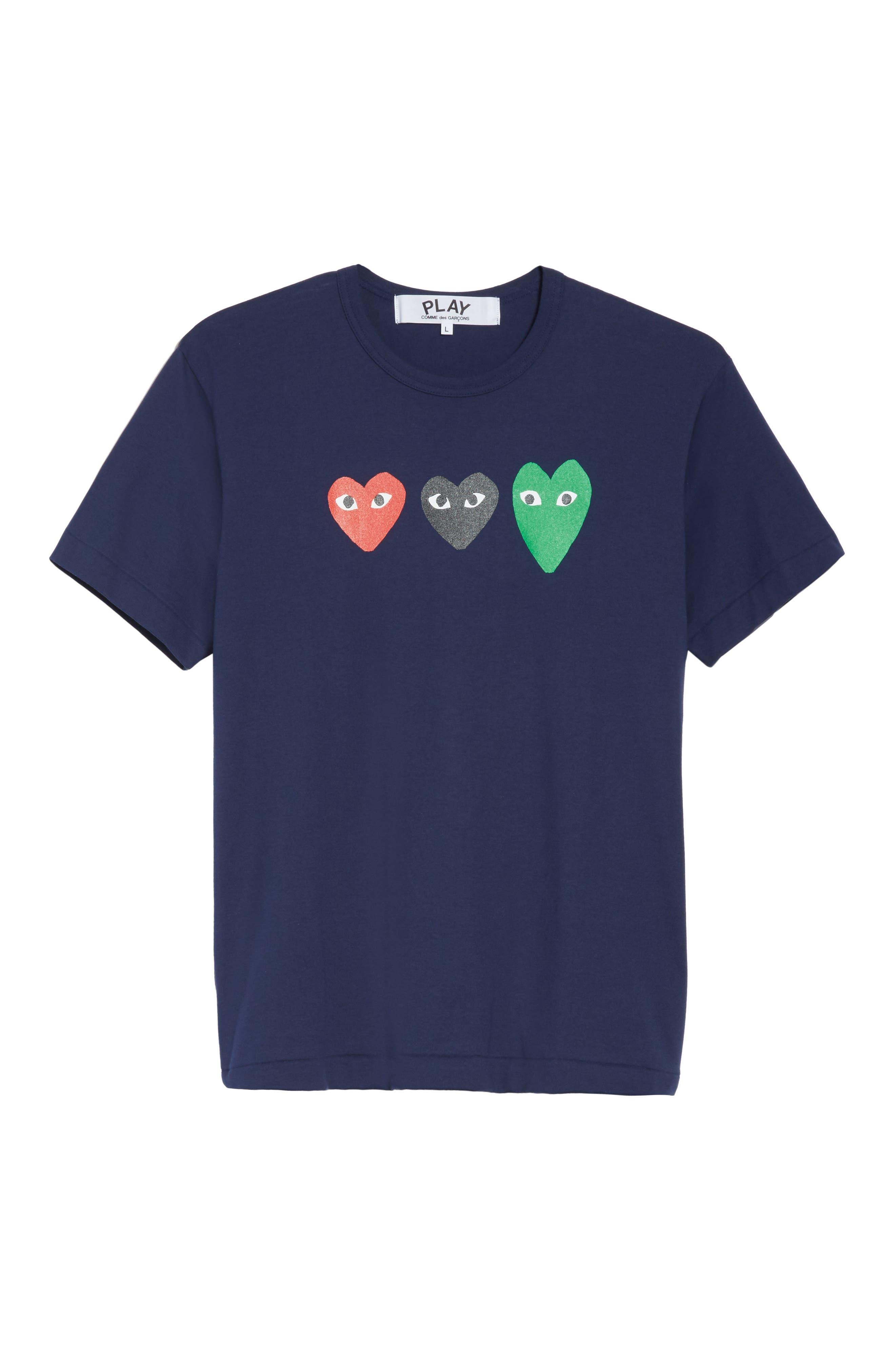 COMME DES GARÇONS PLAY, Graphic T-Shirt, Alternate thumbnail 6, color, 410
